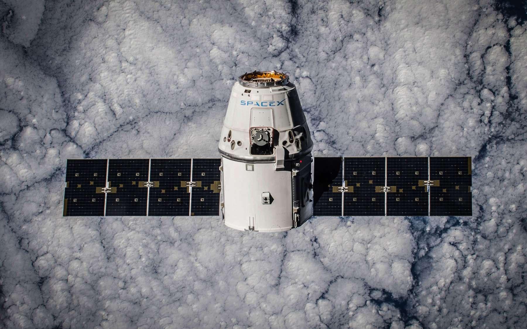 La capsule Dragon de la mission précédente a été envoyée à la Station spatiale internationale en janvier 2015. © Nasa
