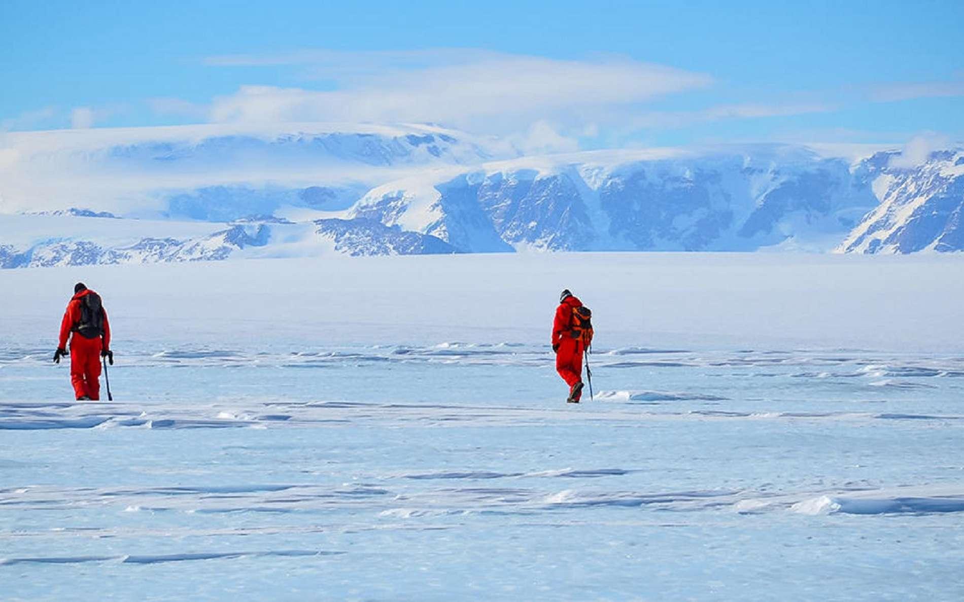 Antarctique, chasseurs de météorites. CNRS - Le Journal. © J. GATTACCECA, L. FOLCO, M. GEMELLI / PNRA.