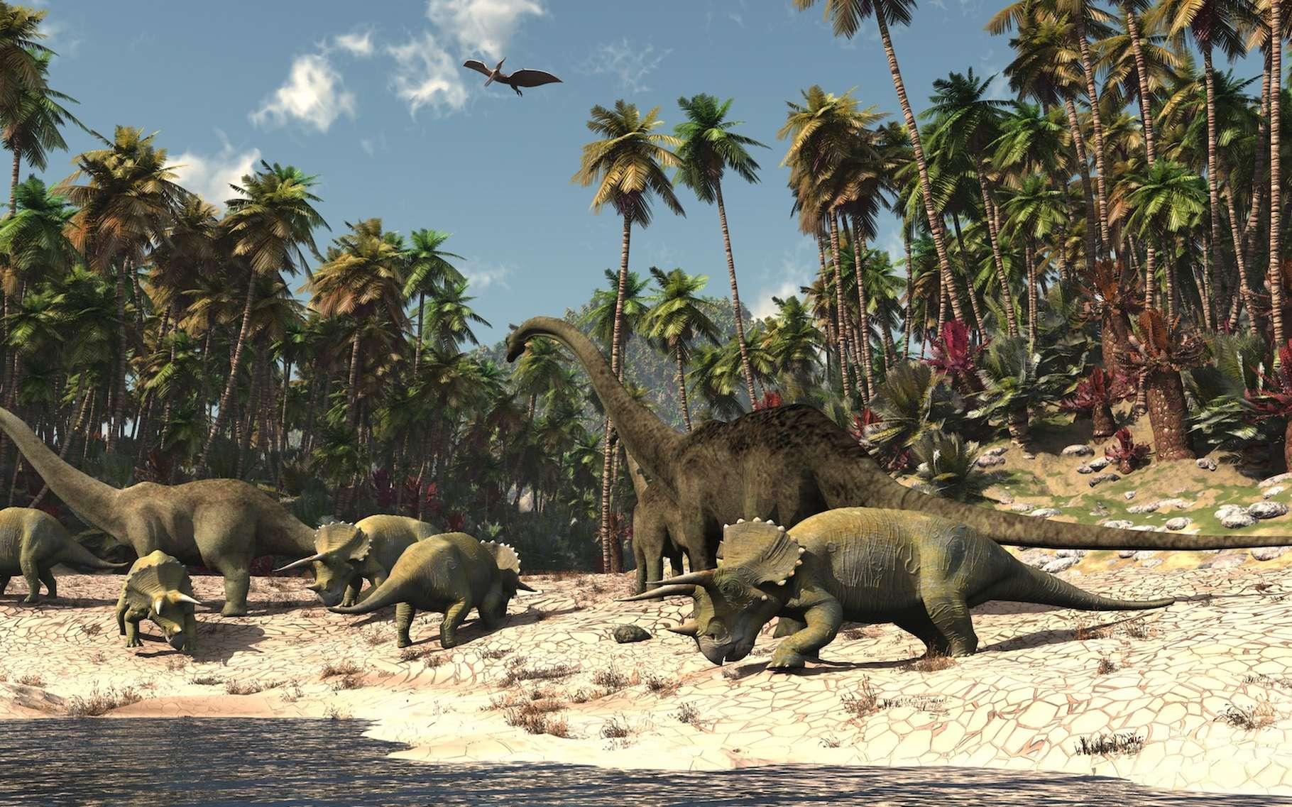 L'analyse d'un squelette de jeune platéosaure, un dinosaure herbivore, montre des caractéristiques très semblables à celles des adultes. © Ericus, Adobe Stock