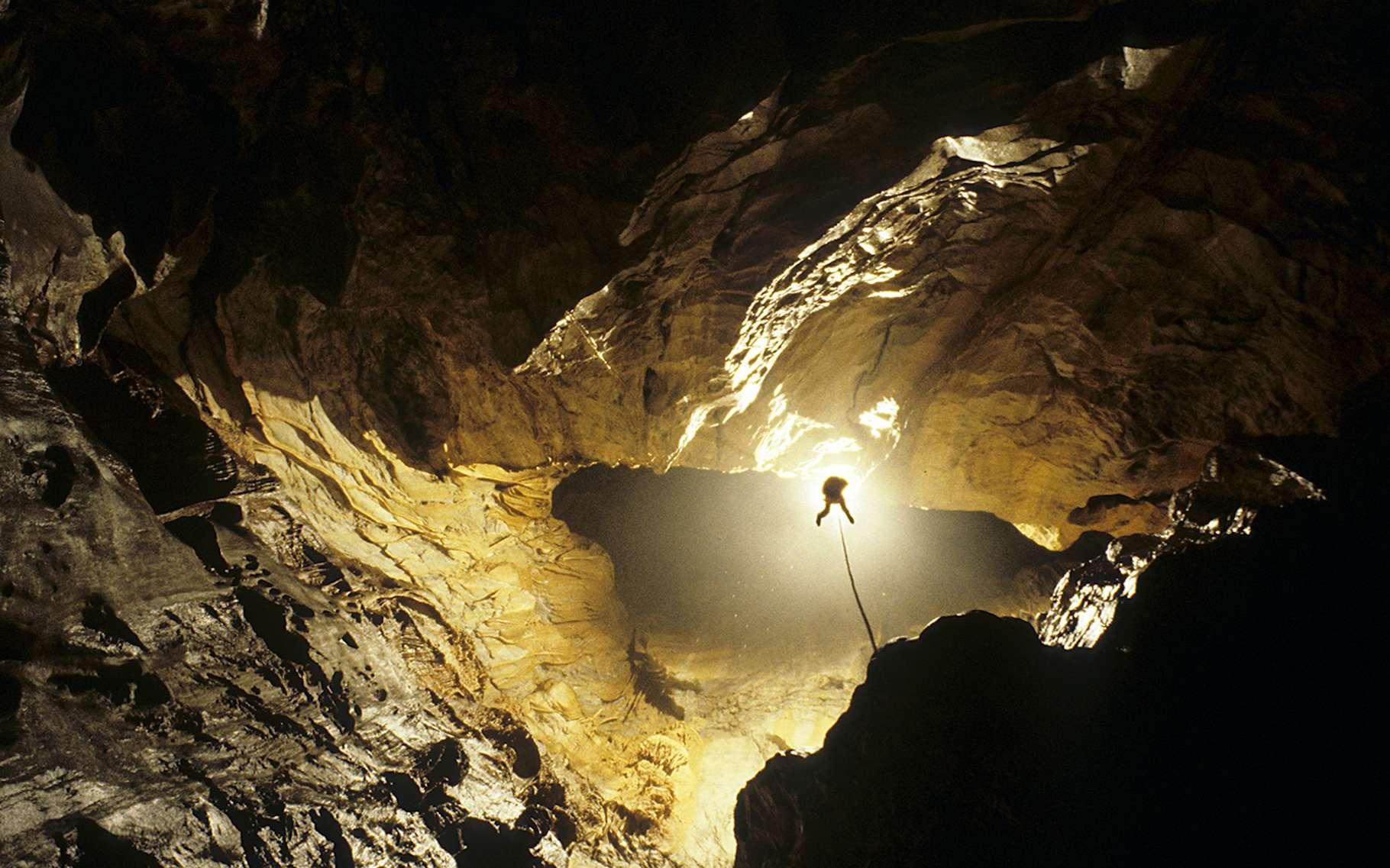 Les Deep Timers sont restés confinés pendant 40 jours dans une grotte en Ariège. © Human Adaptation Institute