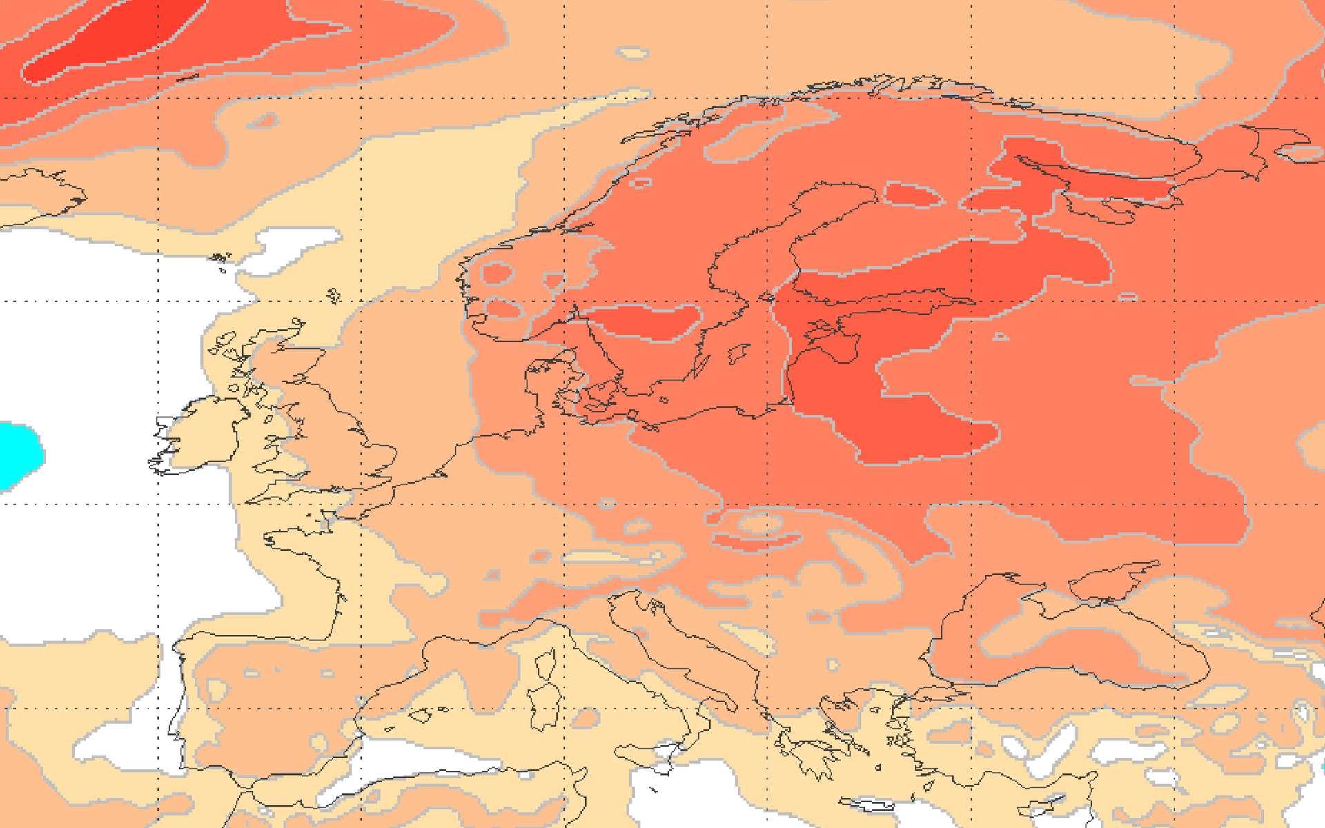 Anomalie des températures pour le mois de février 2020 en Europe. © Copernicus