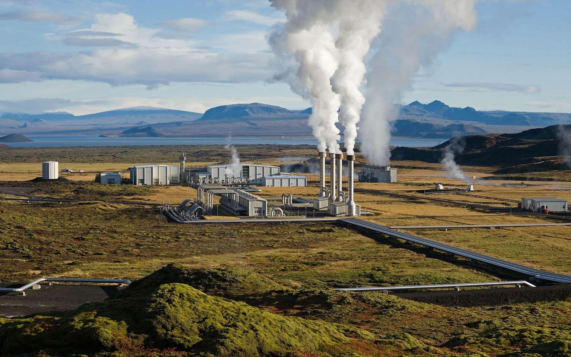Centrale géothermique en Islande. © Wikilmages, Pixabay