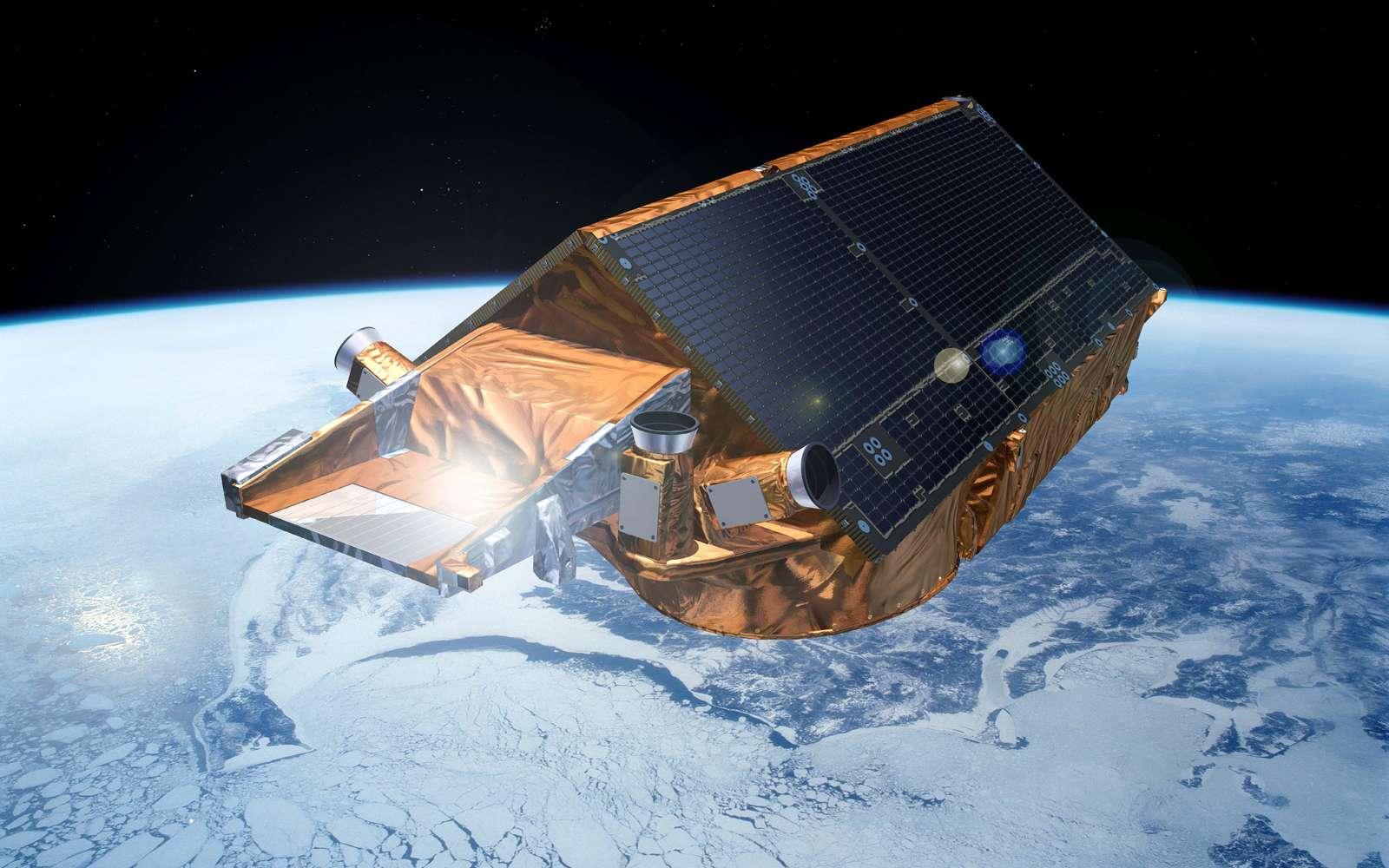 CryoSat-2 a été construit par Astrium, à la tête d'un consortium de 31 entreprises dans 17 pays. Le site Astrium de Friedrichshafen a fabriqué la plate-forme du satellite et procédé à l'intégration de tous les instruments. Crédit Esa