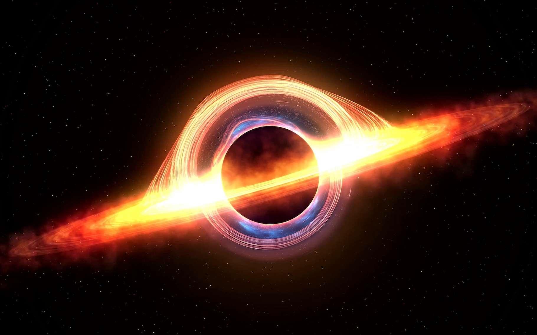 Les trous noirs en rotation sont de potentielles sources d'énergie pour le futur de l'humanité, imaginent des chercheurs de l'université de Columbia (États-Unis). © inlimit3D, Adobe Stock