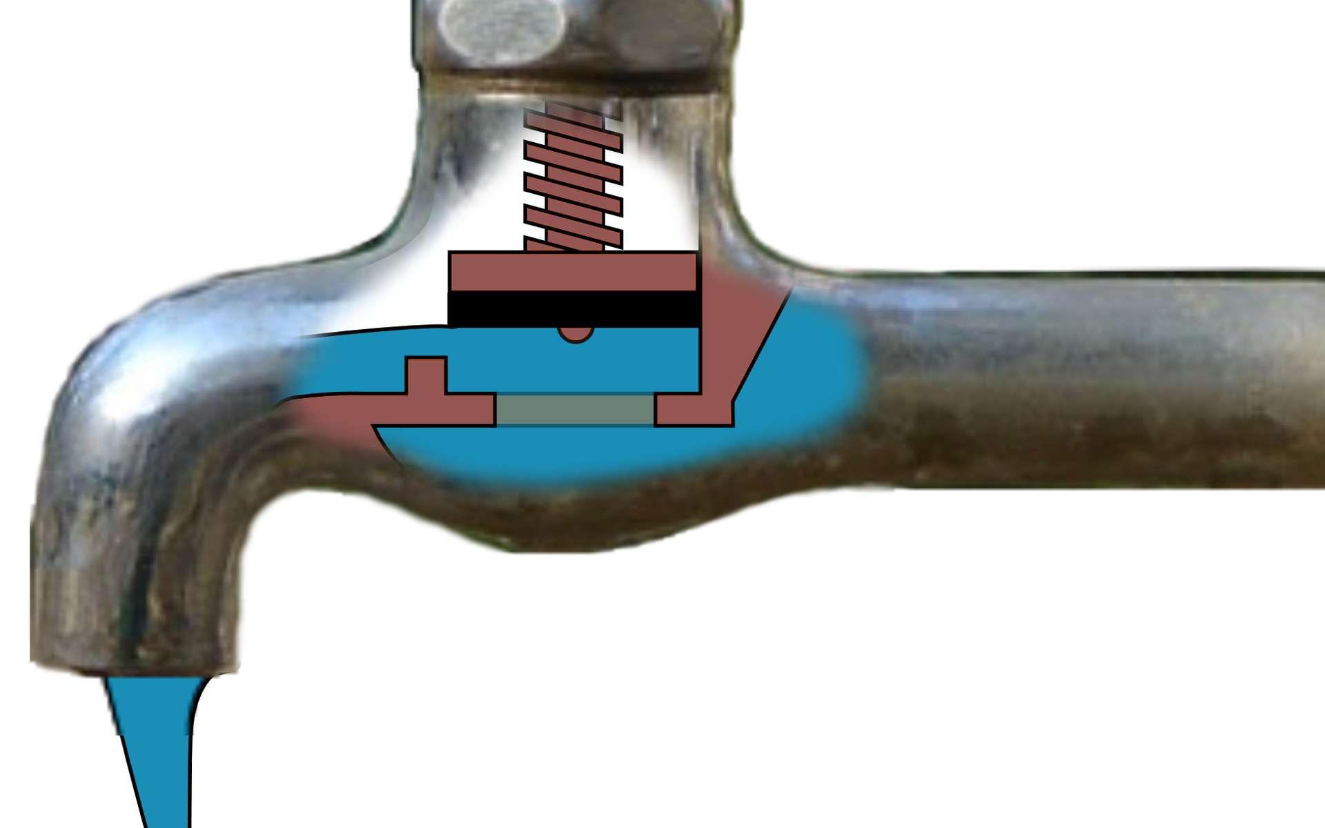 Le robinet à soupape permet de bien contrôler le débit d'un flux. © Ignacio Icke, CC BY 2.0, Wikimedia Commons