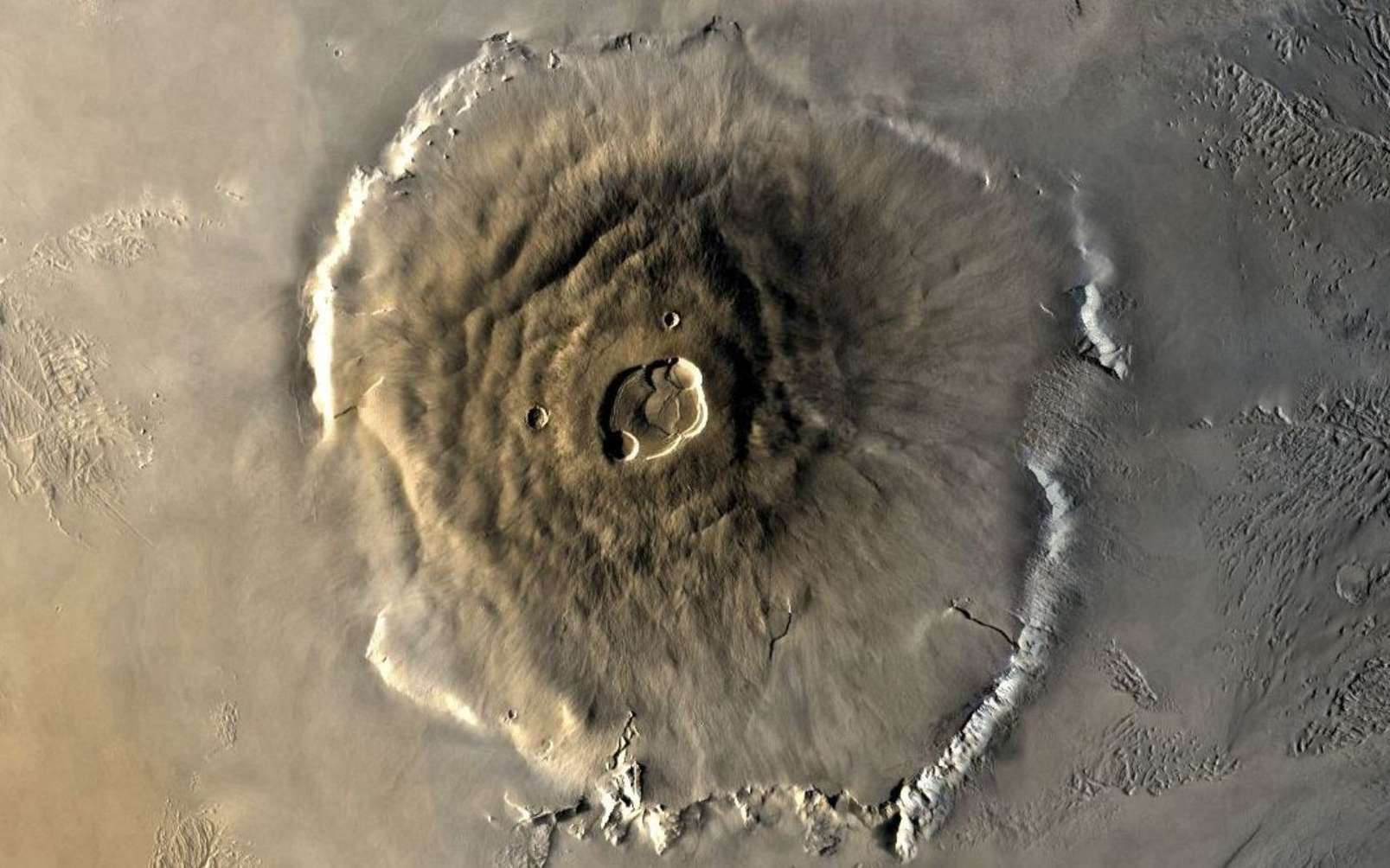 Olympus Mons photographié par une mission Viking. © Nasa