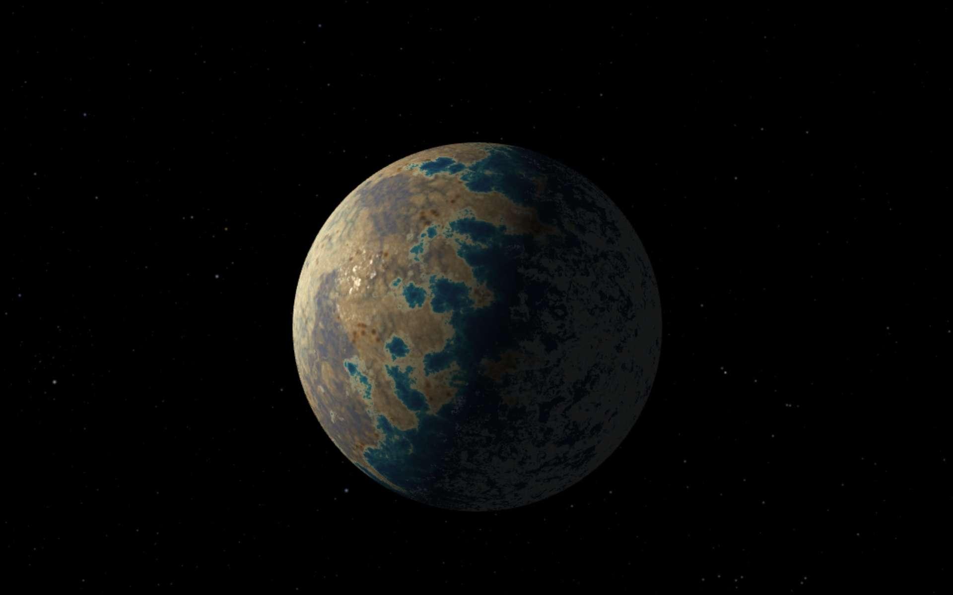 Illustration de Trappist-1d, planète rocheuse autour de l'étoile Trappist-1, découverte en mai 2016. © Nasa, JPL-Caltech
