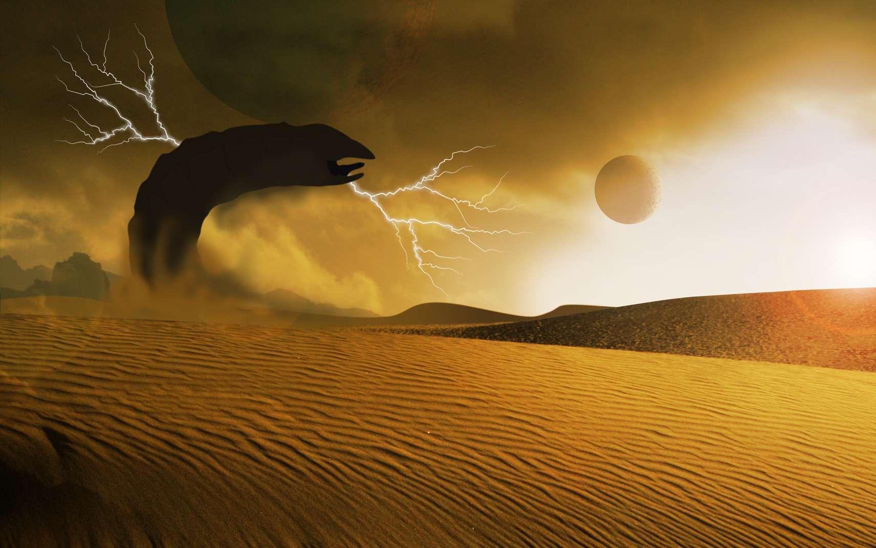 Un des plus grands dangers du désert d'Arrakis sont les Vers, gardiens de l'Epice. © Stuart, Fotolia