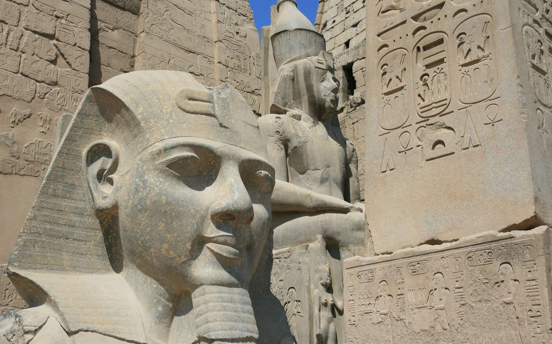 Vue d'un temple de l'Ancienne Égypte, à Louxor. © david5962, shutterstock