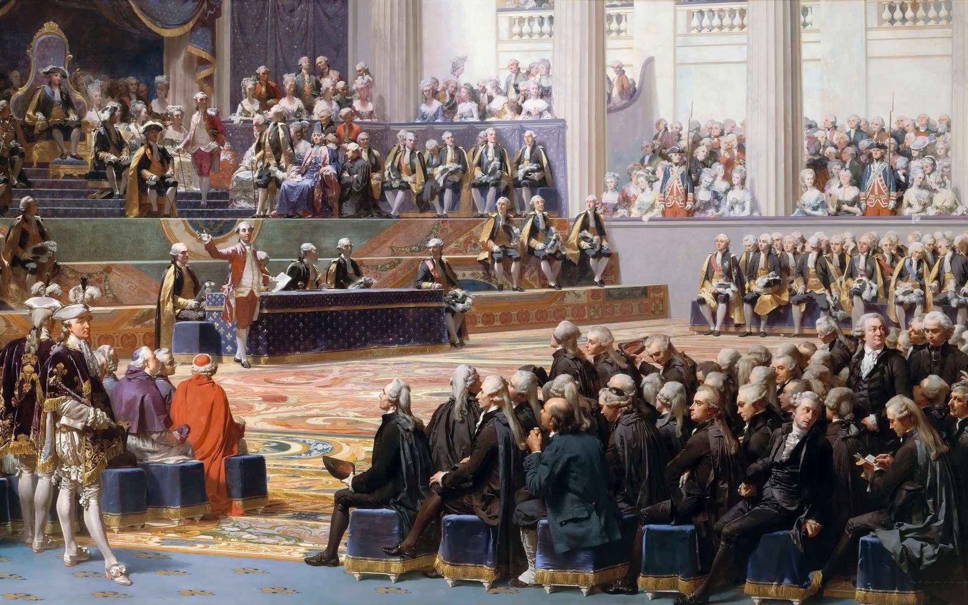 Ouverture des États généraux à Versailles le 5 mai 1789. Toile de Auguste Couder, 1839. © Auguste Couder, Wikimedia Commons, Domaine public