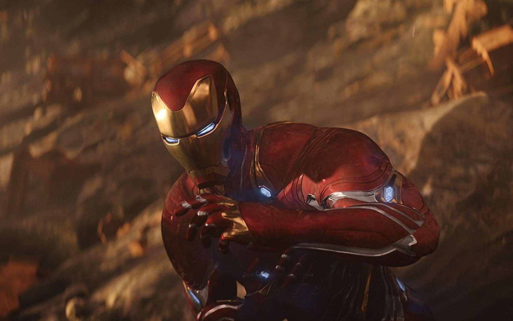 Dans Avengers : Infinity War, on retrouve Iron Man avec une toute nouvelle armure qui exploite une nanotechnologie futuriste : elle est constituée de nanorobots. © 2018, Marvel Studios