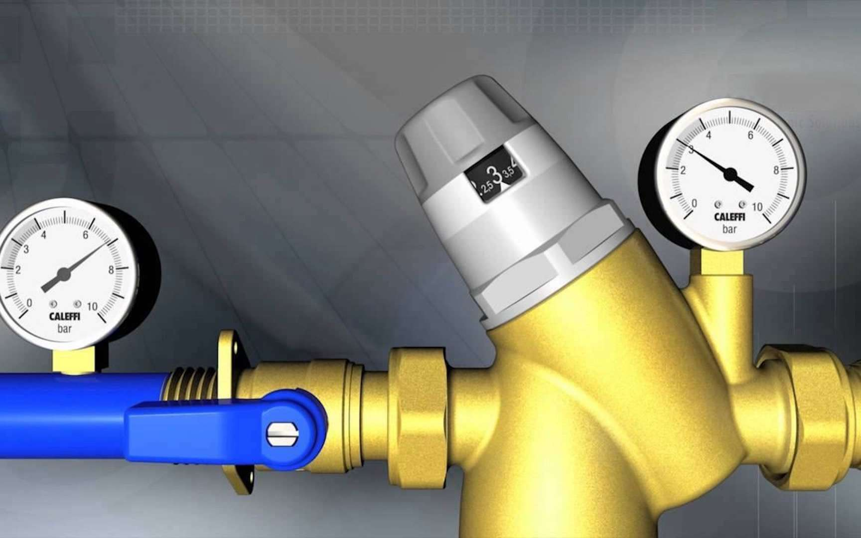 Du bruit dans vos canalisations, c'est peut-être un débit d'eau mal réglé ? © Caleffi