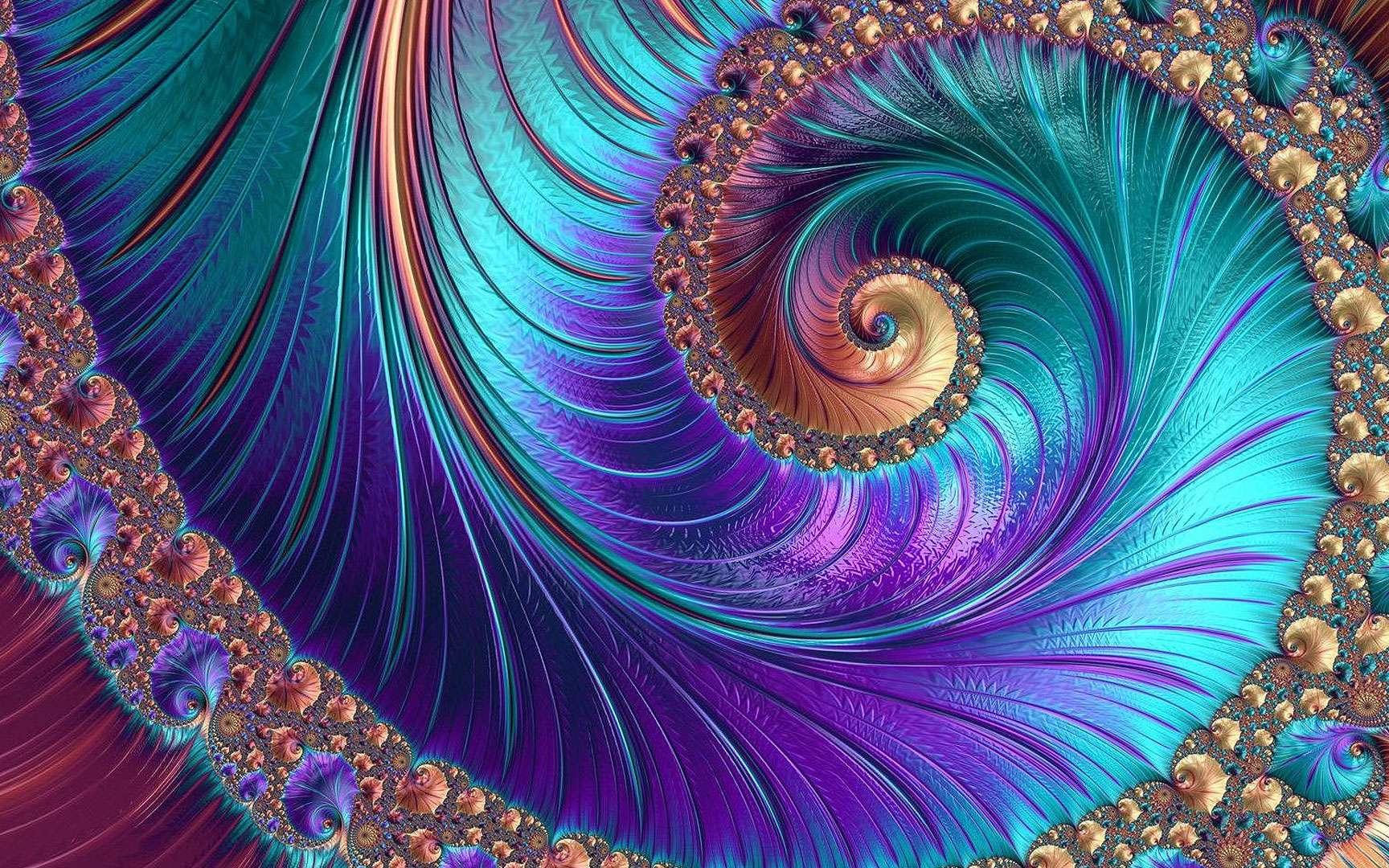 L'art fractal consiste à produire des images grâce à des logiciels générant des fractales. © Kobol75, Shutterstock
