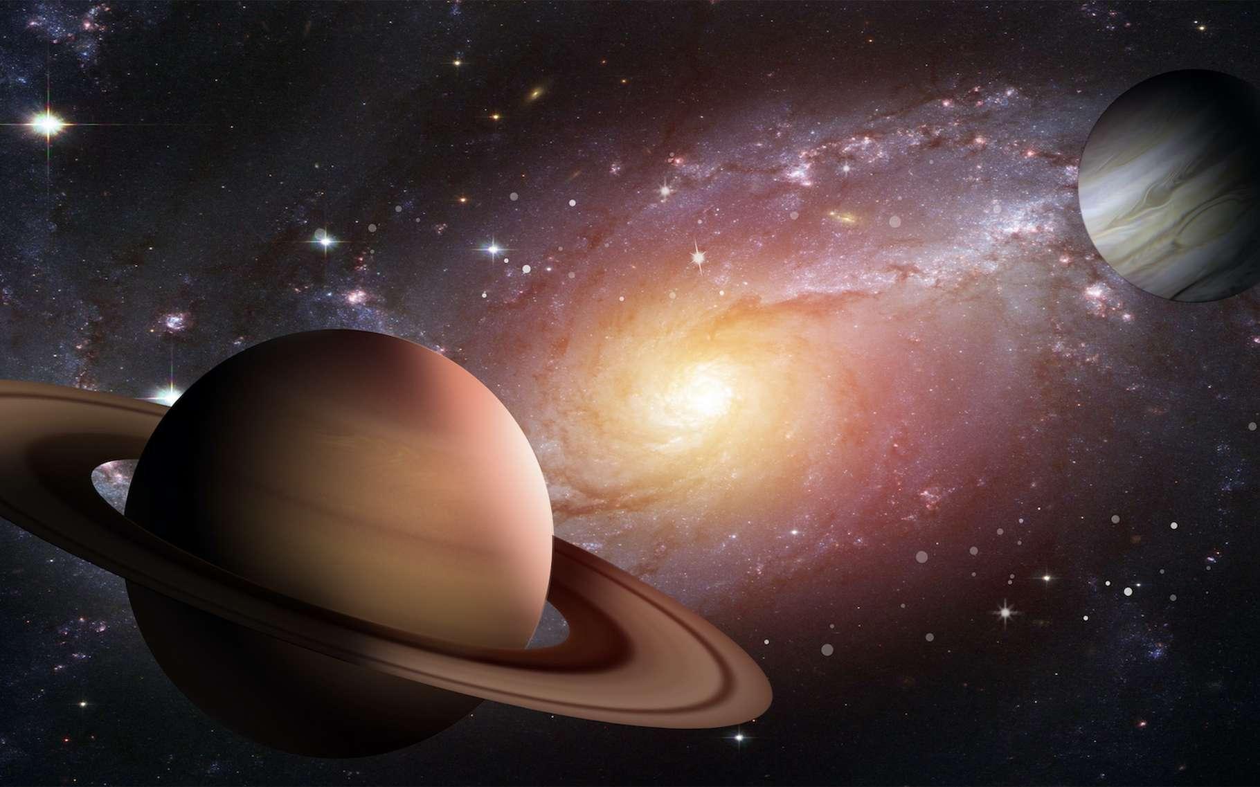 L'architecture de notre Système solaire semblait moins inhabituelle dans son enfance. Les positions de Jupiter et de Saturne étaient plus conformes à ce que les astronomes observent ailleurs dans la Voie lactée. © RizalgyMusa, Adobe Stock