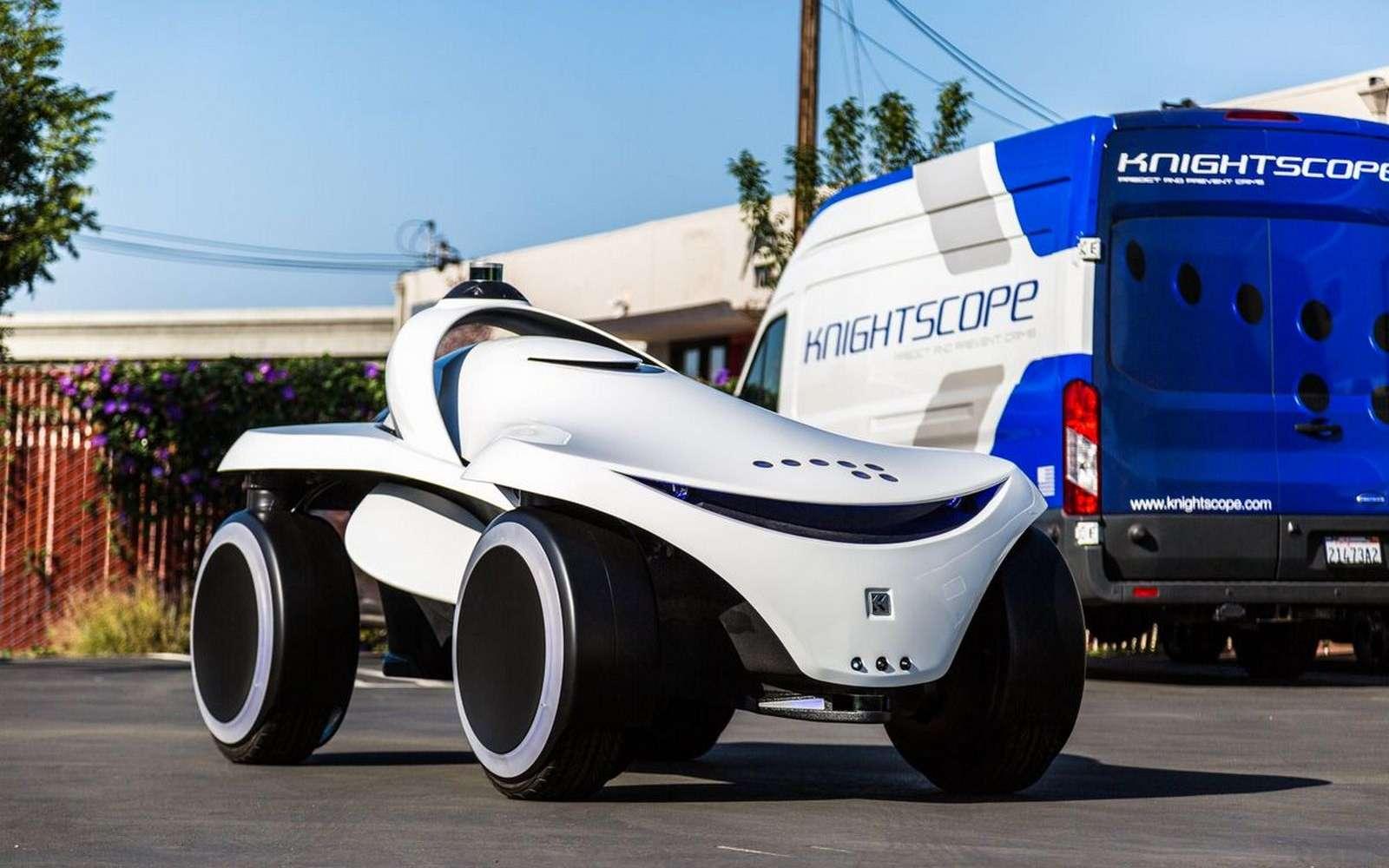 Le robot vigile K7 est un buggy destiné à patrouiller sur des terrains accidentés. © Knightscope
