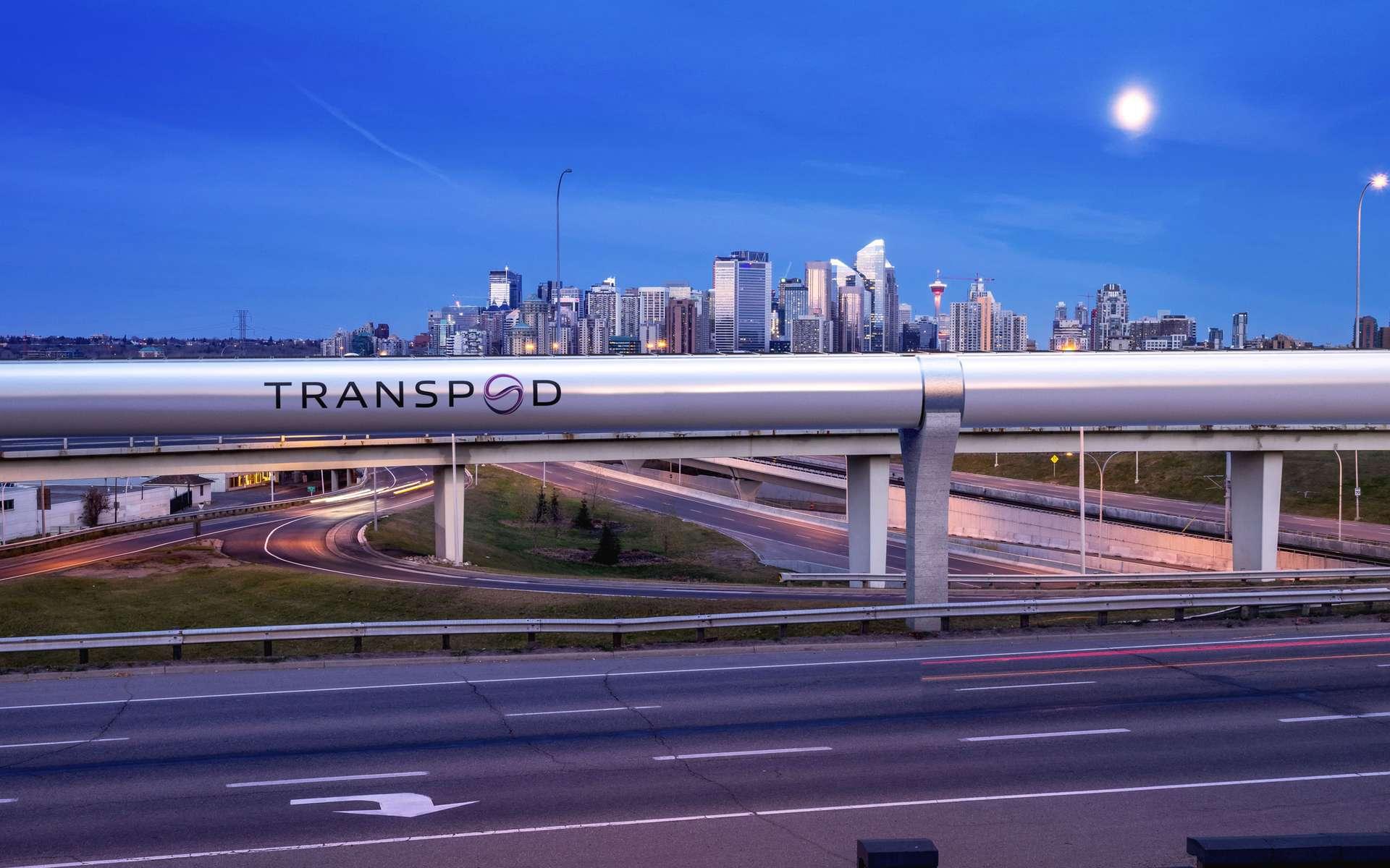 TransPod est une société canadienne qui développe un projet de train subsonique Hyperloop. © TransPod