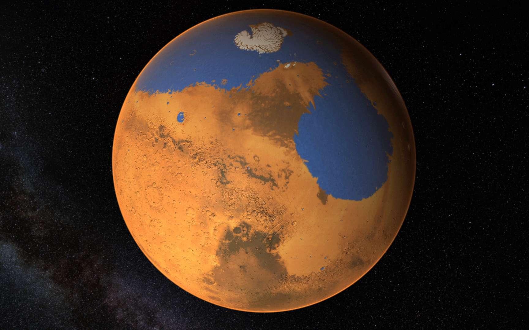 Quand la Planète rouge était (en partie) bleue. © Nasa