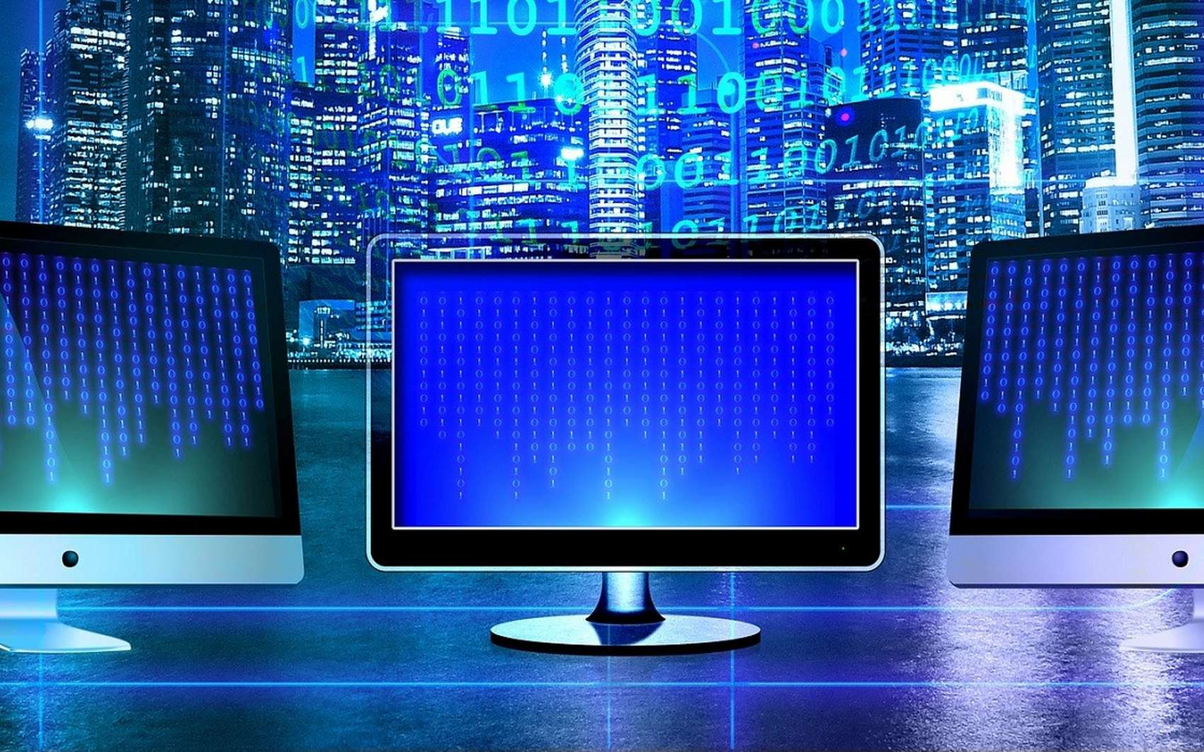 Le périphérique de sortie vidéo d'un ordinateur s'appelle un moniteur. © Geralt, Pixabay