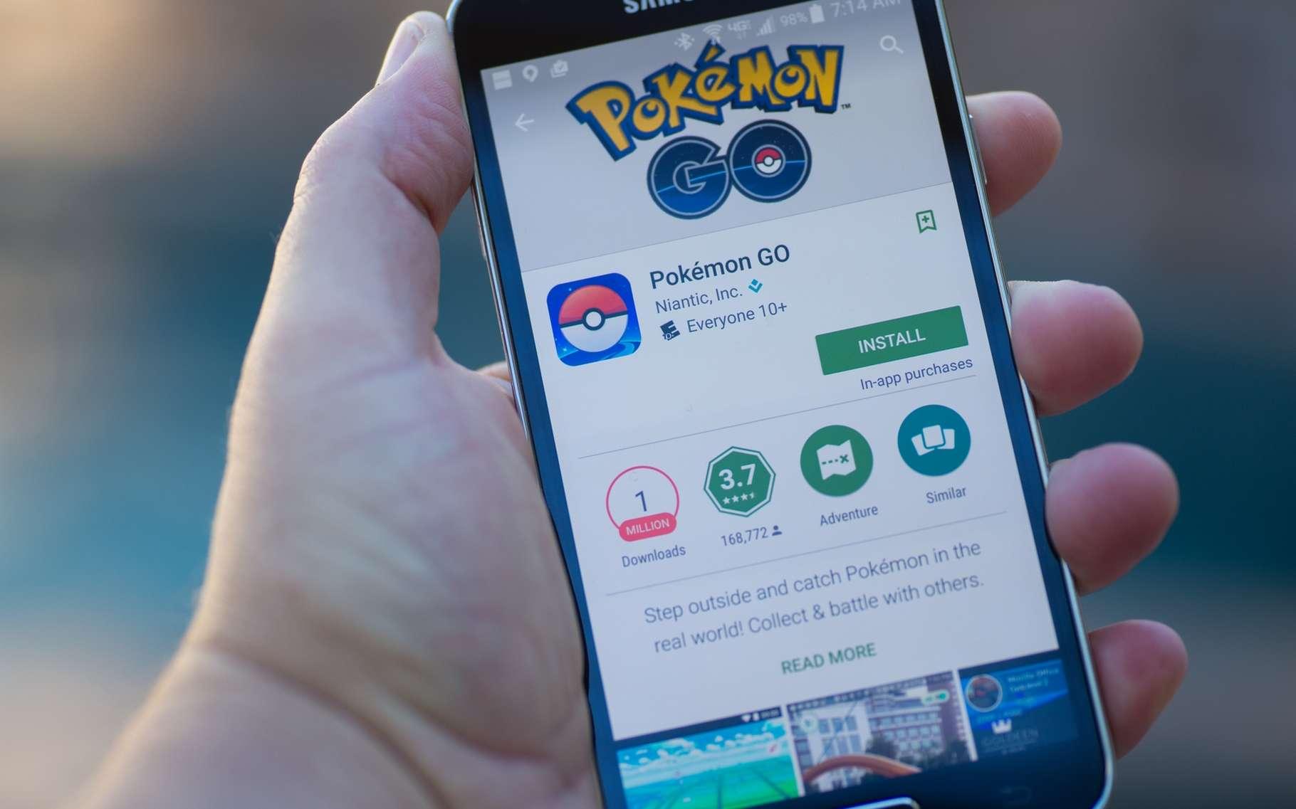 Le passage du jeu Pokémon à la réalité augmentée est visiblement un succès pour Nintendo. © Randy Miramontez, Shutterstock