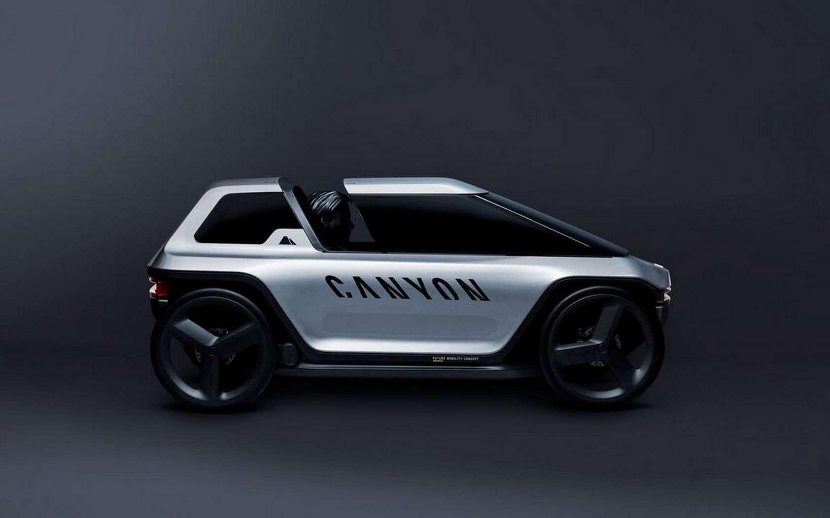 Le Future Mobility Concept de Canyon est un vélomobile. © Canyon