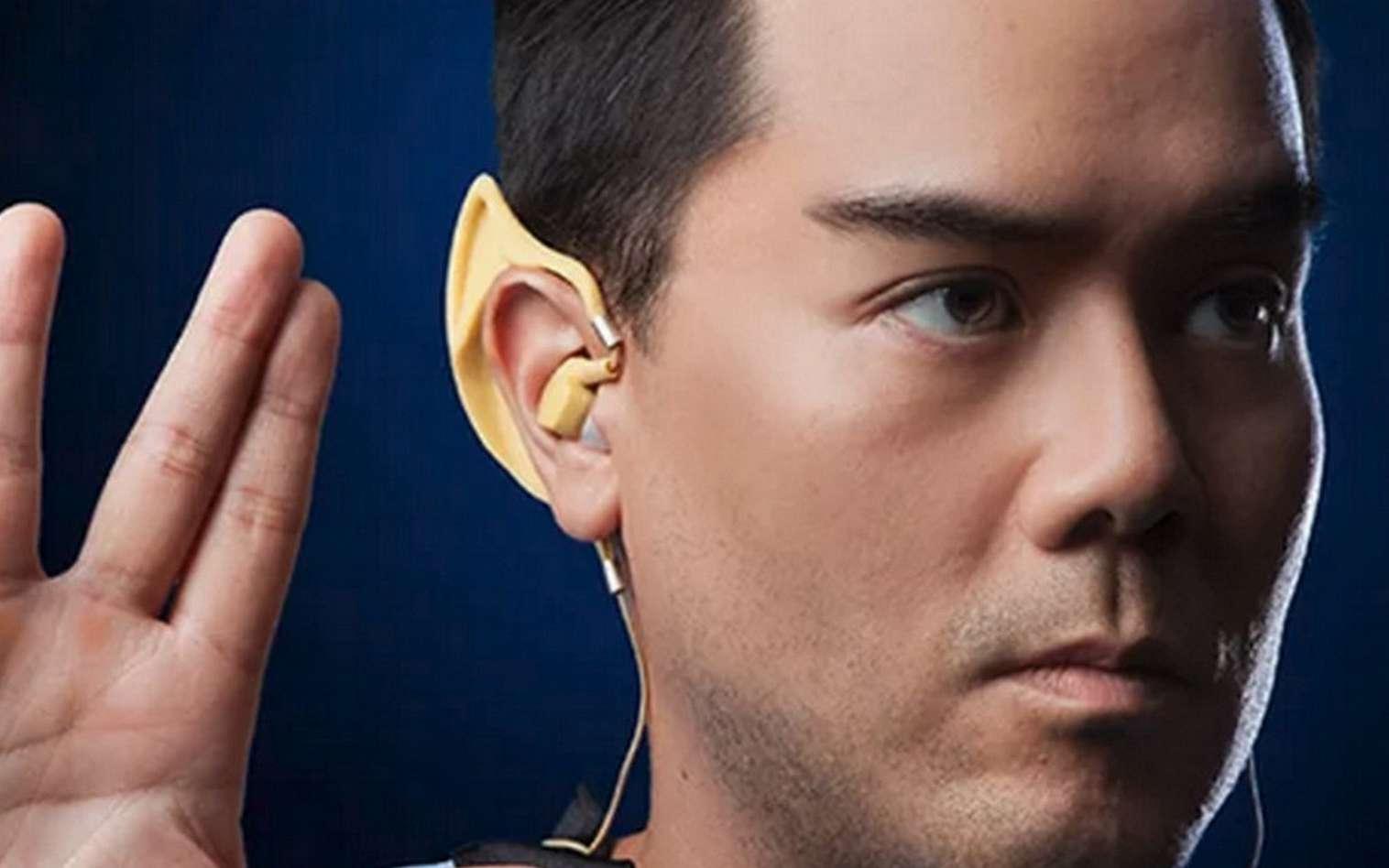 Les oreillettes sans fil Vulcan inspirées des oreilles de monsieur Spock, l'inoubliable membre de la saga Star Trek. © ThinkGeek