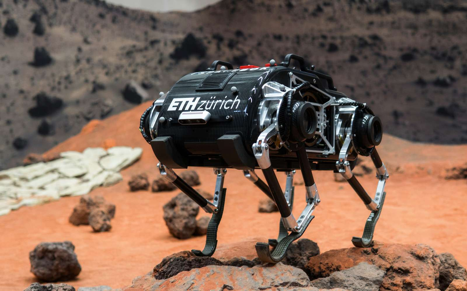 SpaceBok est un quadrupède conçu pour les prochaines missions sur la Lune et Mars. © ESA