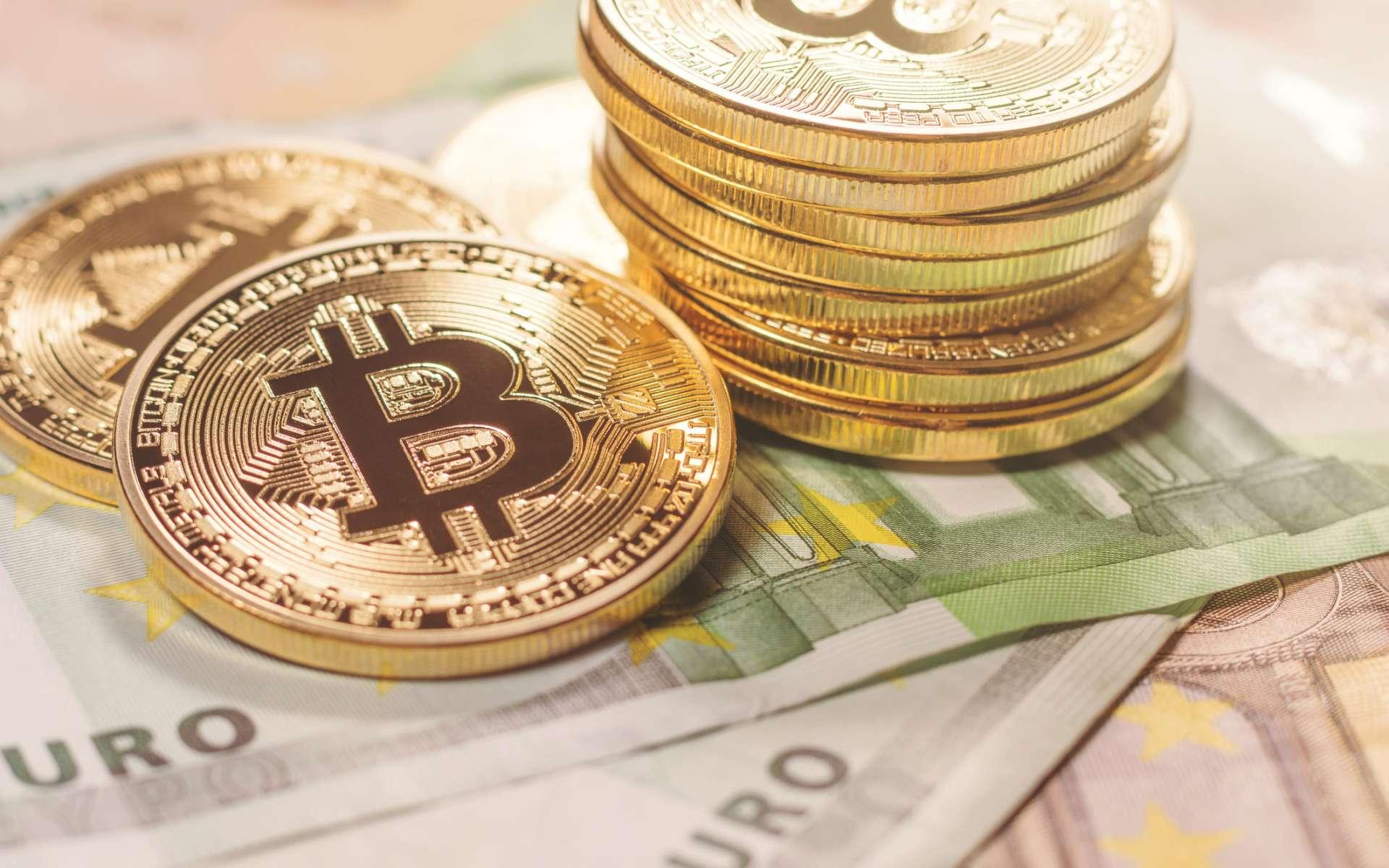 Le bitcoin, première cryptomonnaie décentralisée, a dépassé les 20.000 dollars pour la première fois mercredi 16 décembre. © Allexxandar, IStock.com
