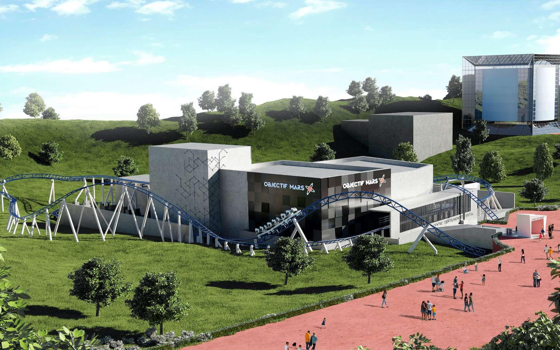 La nouvelle attraction du Futuroscope « Objectif Mars » est prête à accueillir le public dès la réouverture du parc. © Futuroscope
