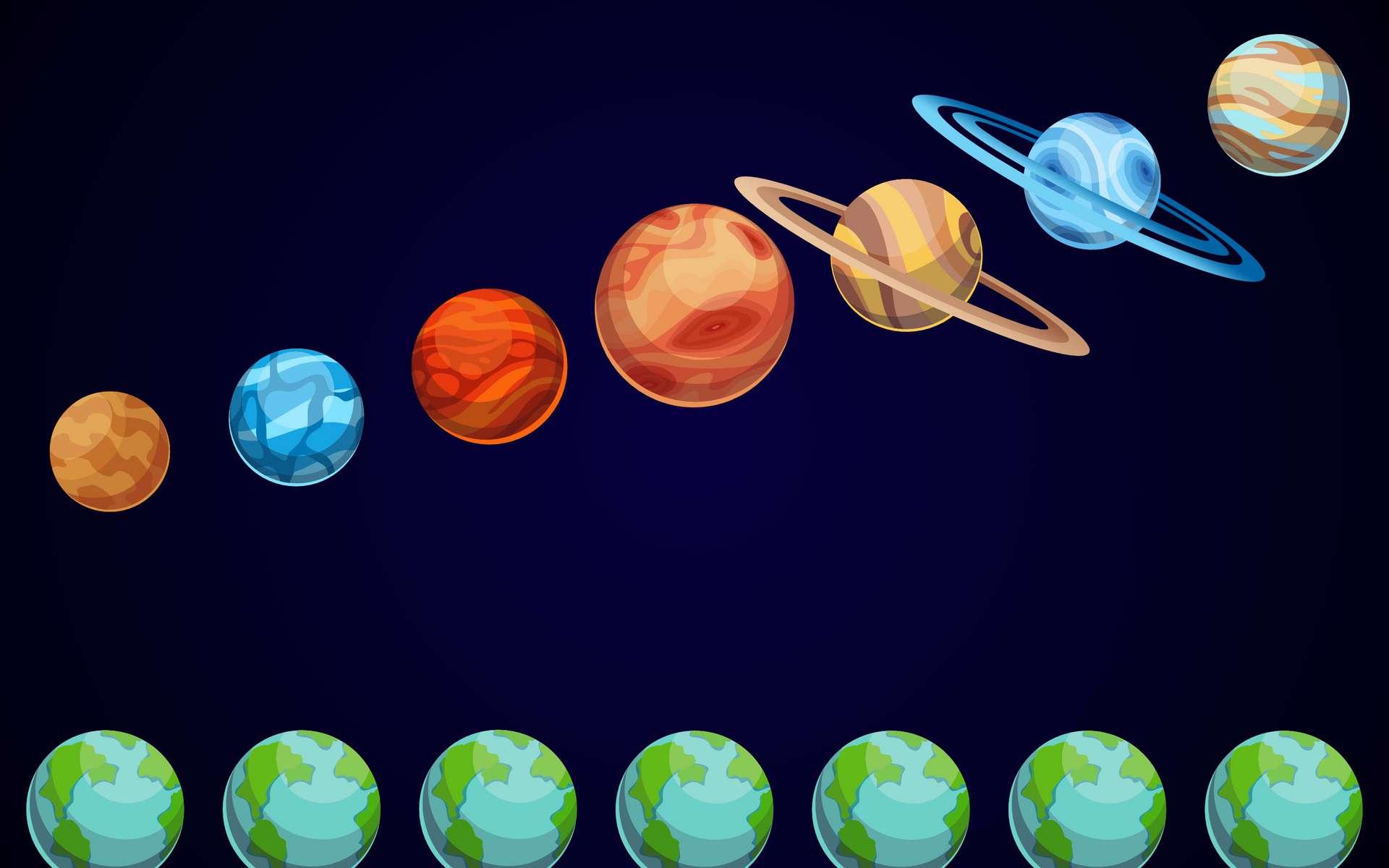 Quel est le temps de trajet de la Terre jusqu'à Mars, Saturne ou Venus ? © designer_things, Adobe Stock