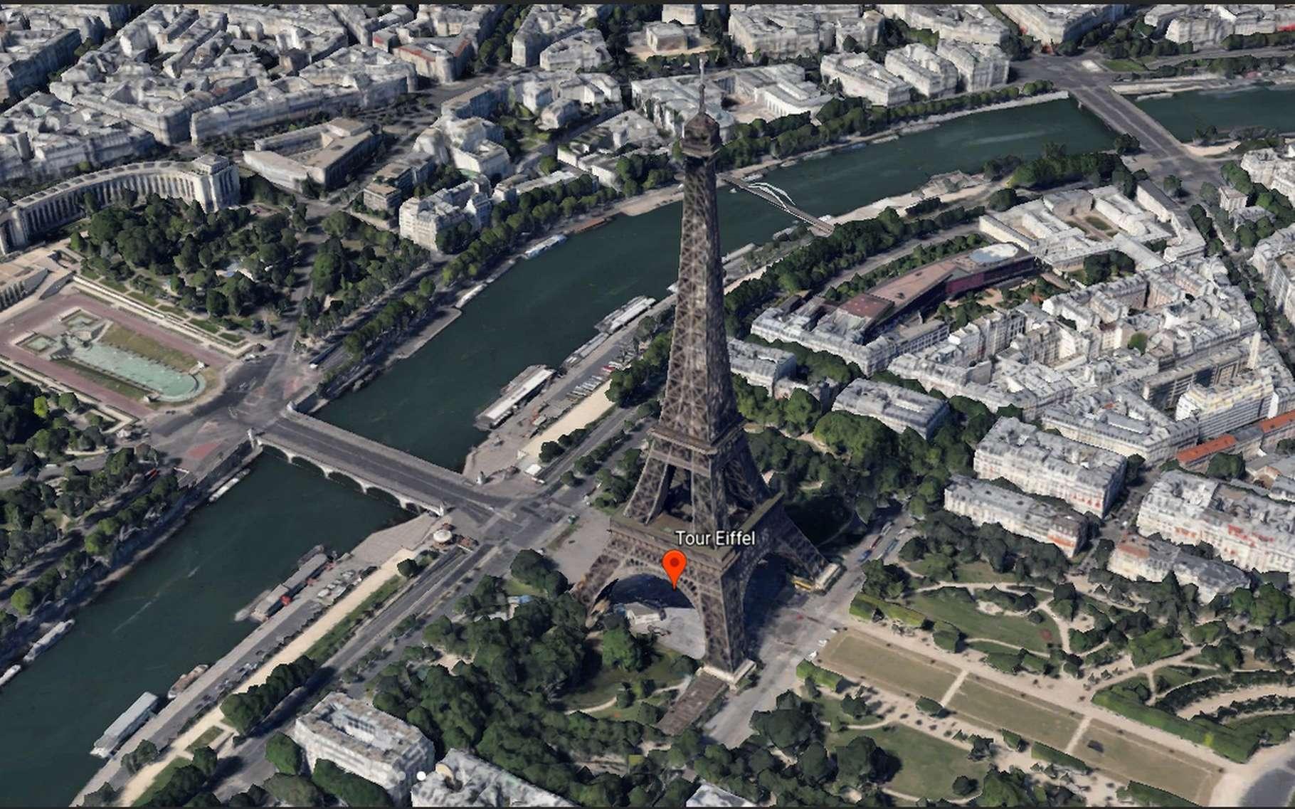 La nouvelle version de Google Earth offre un mode de visualisation en trois dimensions qui permet d'admirer un site ou un bâtiment sous plusieurs angles. © Google