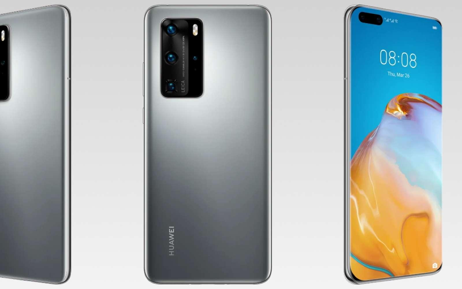 Voici les P40, P40 Pro et P40 Pro+, les nouveaux fleurons de chez Huawei. Destinés pour être doués en photo, ils se frottent à la gamme Galaxy S20 de Samsung. © Huawei