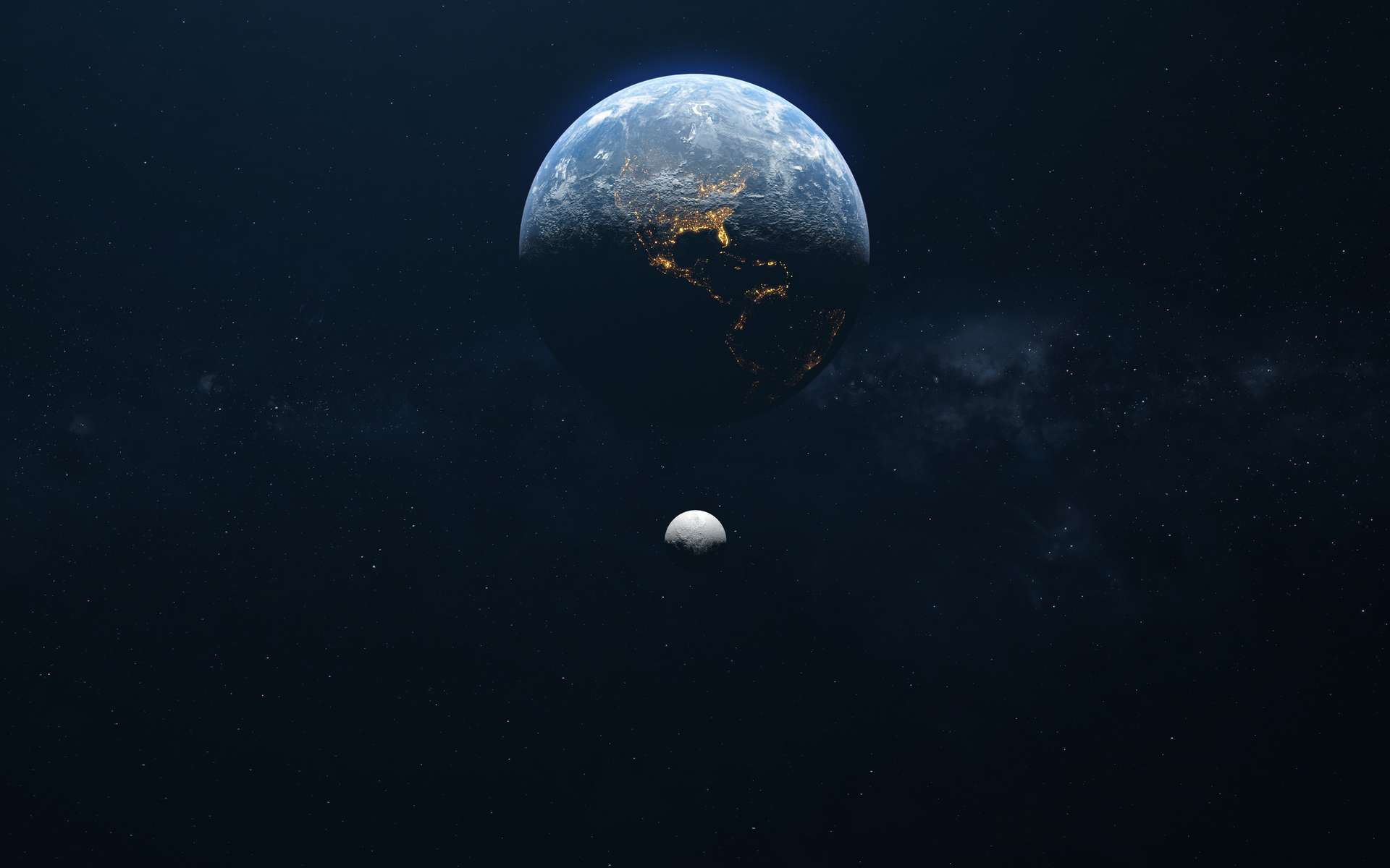 Selon James Benford, des lurkers extraterrestres se cacheraient au moins sur l'un des quasi-satellites de la Terre. Ils nous observeraient depuis longtemps, dans l'attente que nous soyons prêts à prendre contact. © brutto film, Adobe Stock