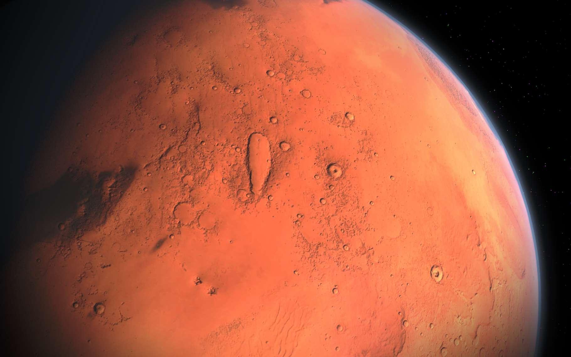 Pour trouver la source du méthane détecté sur Mars, des chercheurs de l'université de Newcastle (Royaume-Uni) ont décidé de procéder par élimination. Ils affirment aujourd'hui qu'elle n'est pas à chercher du côté de l'érosion par les vents. © Aynur_zakirov, Pixabay License