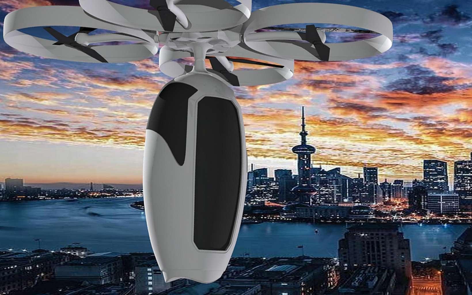 La capsule volante Caps pourrait évoluer à 150-300 mètre d'altitude. © Caps