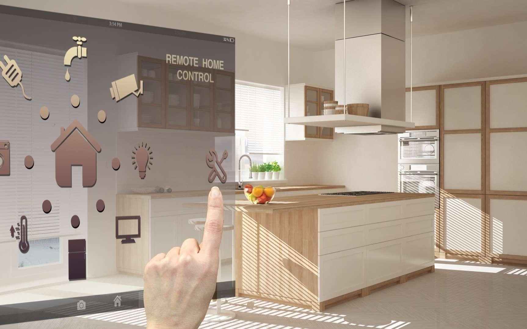 Matter sera dès la fin de l'année, le standard commun de nombreux appareils connectés pour la maison. © ArchiVIZ, Adobe Stock
