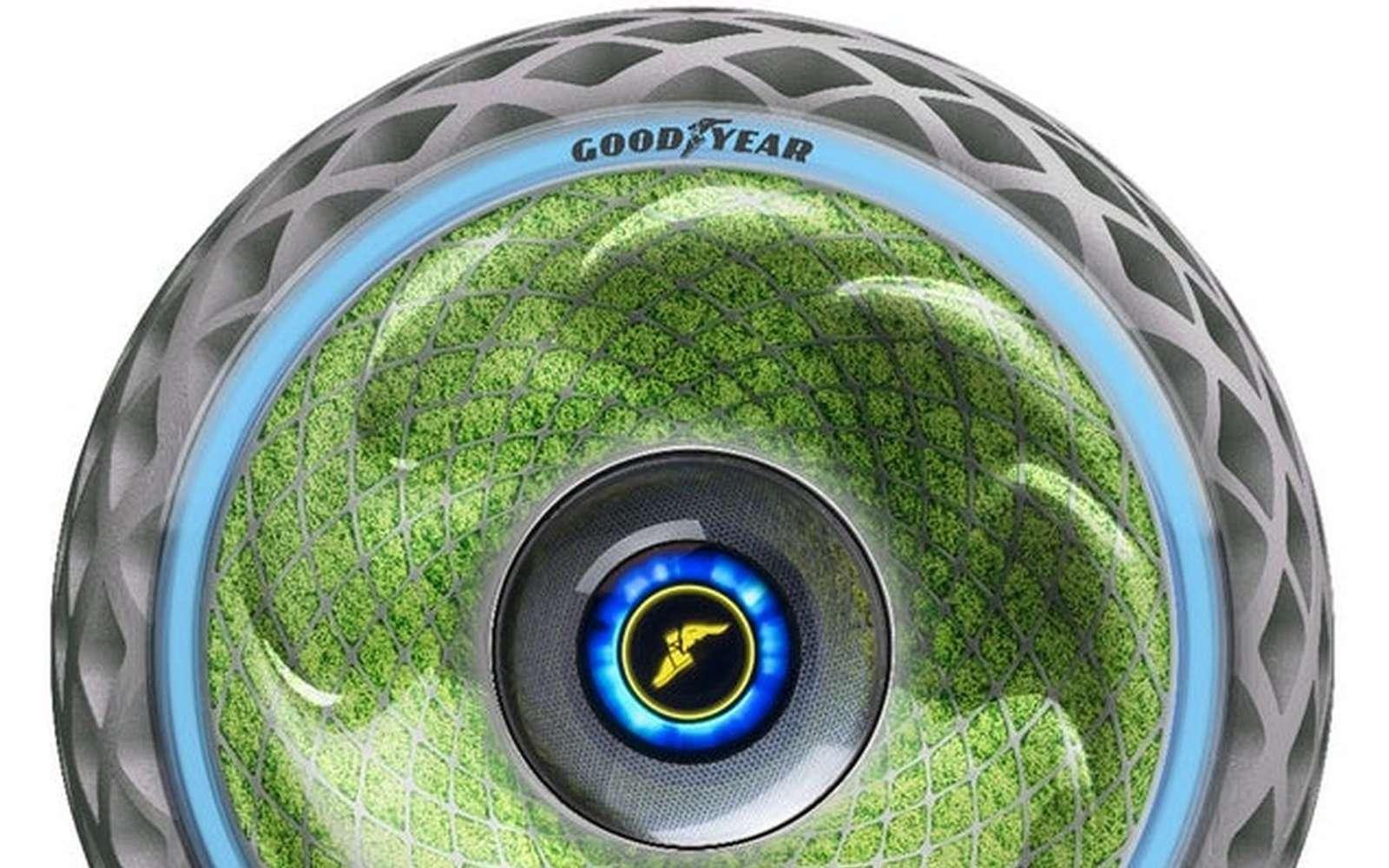 Goodyear Oxygene, le pneu qui produit de l'énergie par photosynthèse. © Goodyear