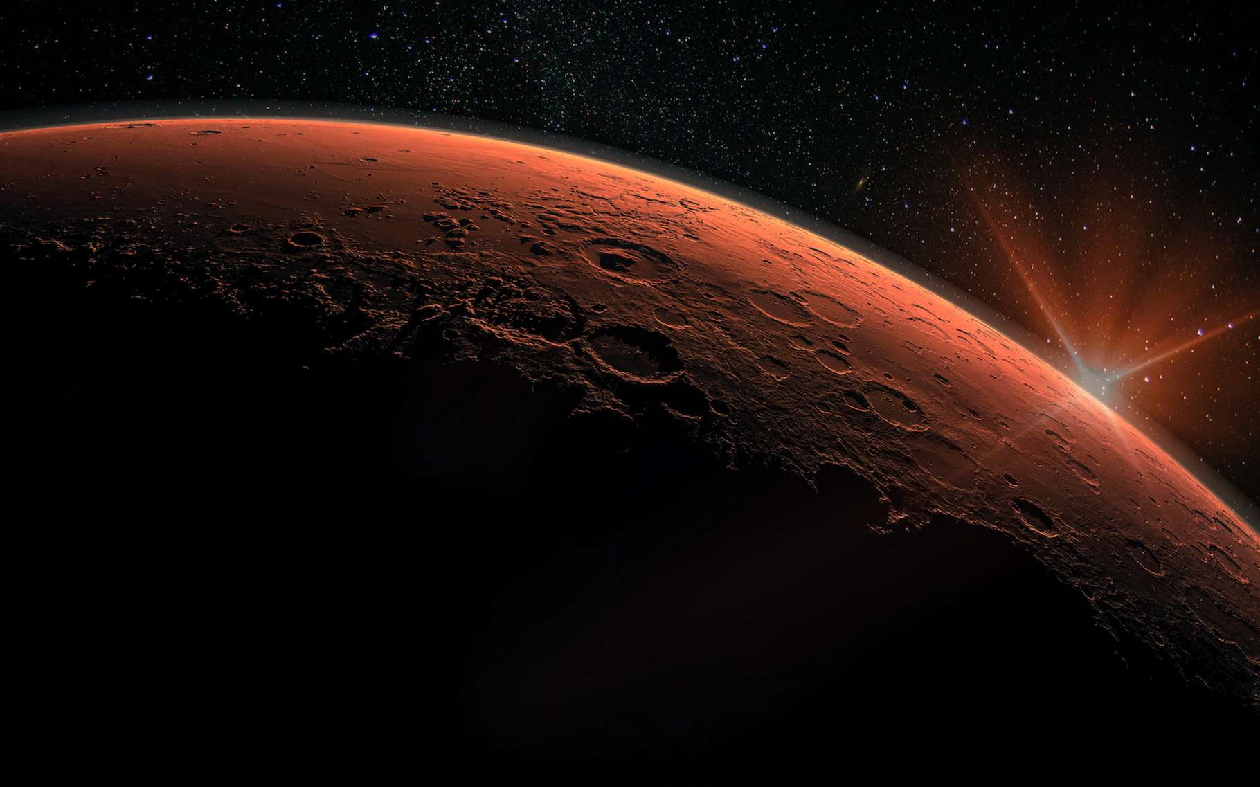 Des données transmises par le rover Curiosity depuis Mars révèlent des fluctuations inattendues de l'oxygène au-dessus du cratère Gale. © elen31, Adobe Stock