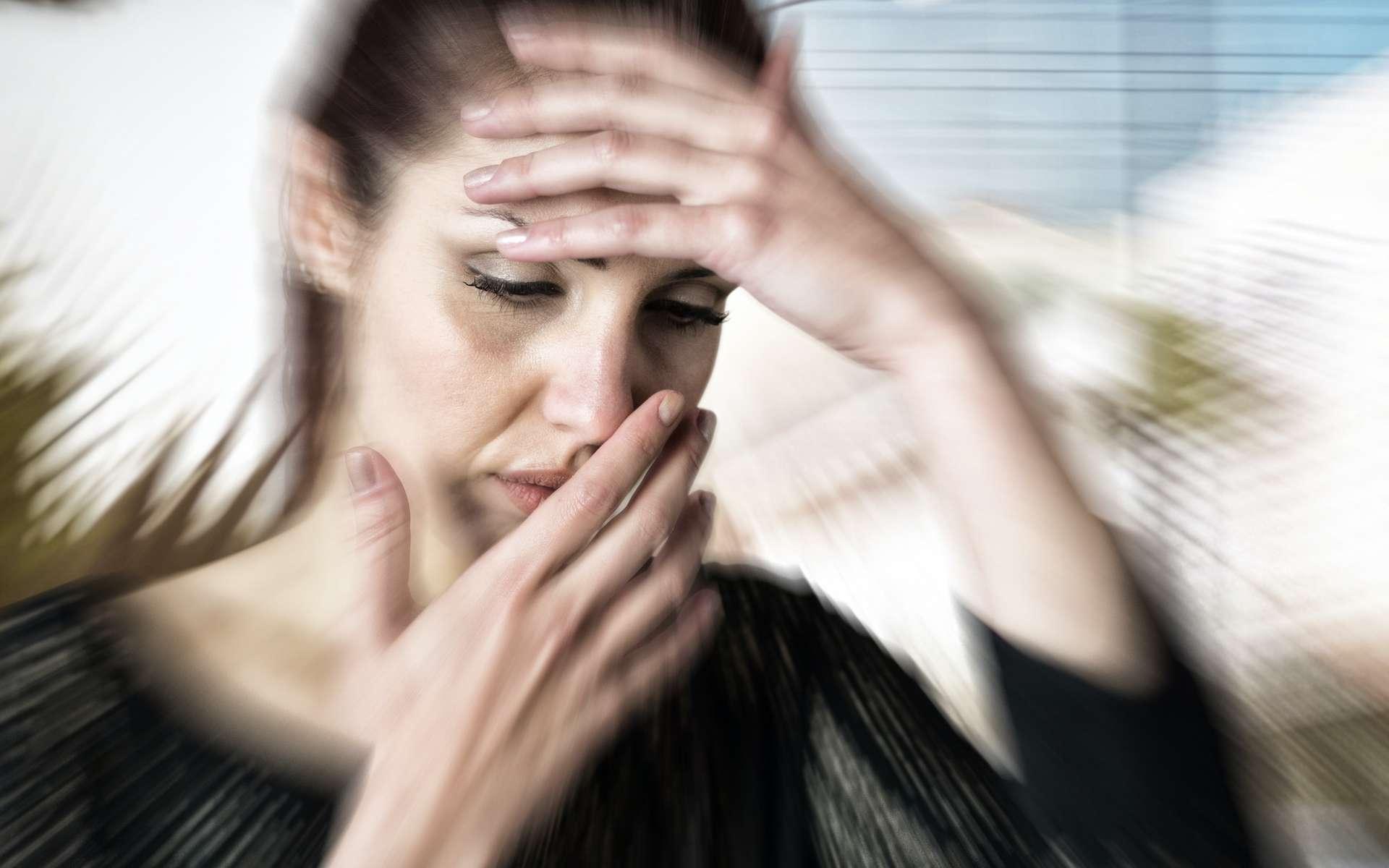 La migraine ophtalmique se manifeste par une aura lumineuse. © vectorfusionart, Adobe Stock