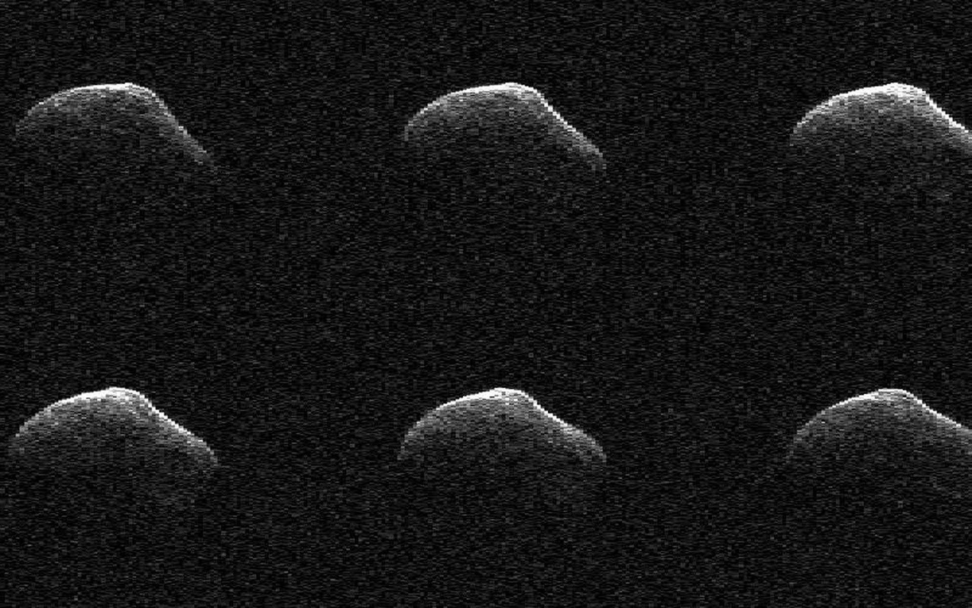 Images radar de P/2016 BA14, obtenues le 23 mars 2016, lorsque le noyau de la comète était à 3,6 millions de kilomètres de la Terre. © Nasa, JPL-Caltech, GSSR