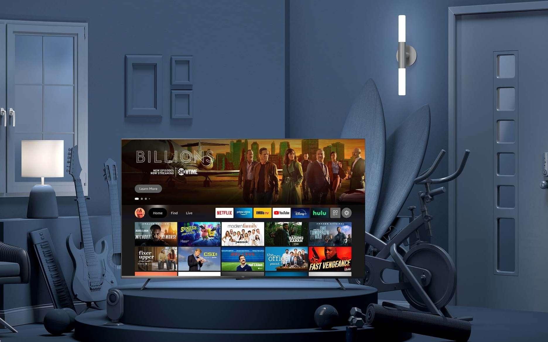 Le nouveau téléviseur Fire TV Omni Series d'Amazon intègre Alexa et l'interface Fire TV. © Amazon