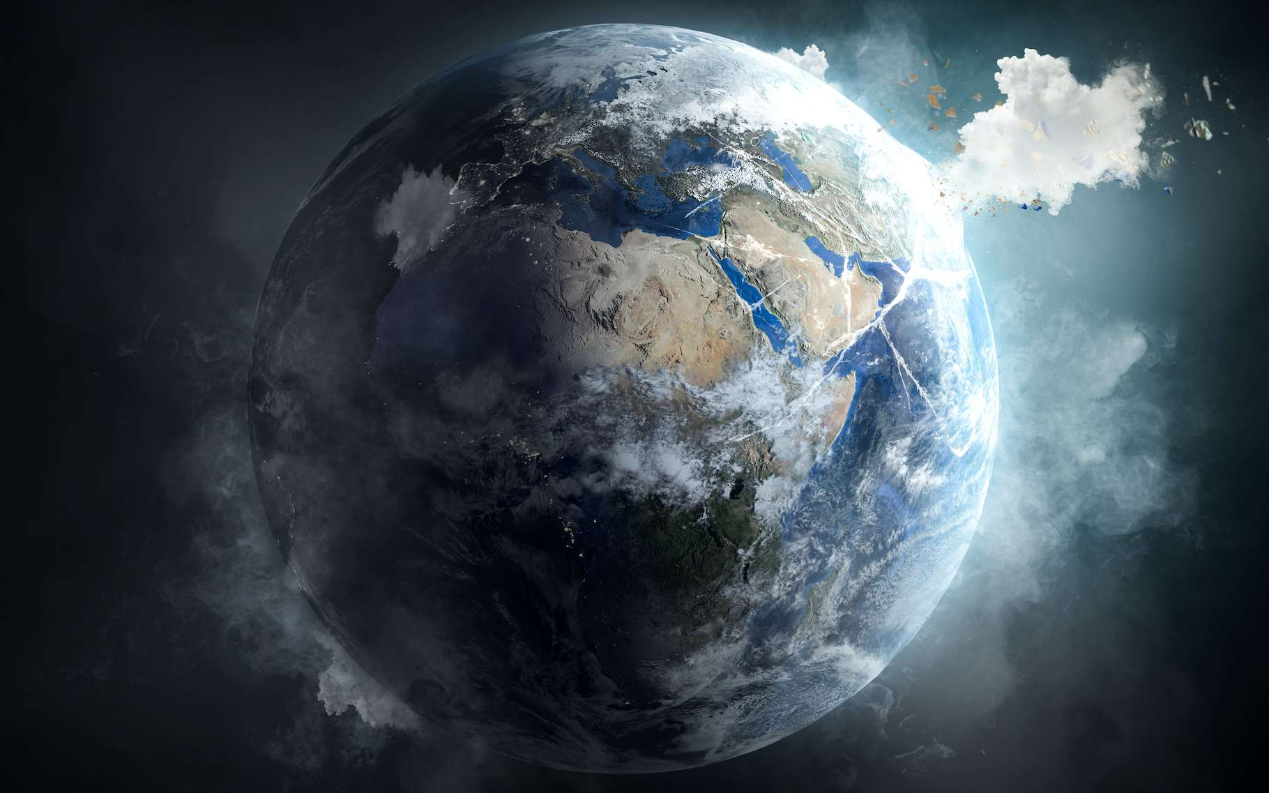 L'ingénierie climatique, et sa variante aux effets rapides à grande échelle dite géoingénierie, est l'ensemble des techniques imaginées par les chercheurs pour traiter de la question du réchauffement climatique en aval de nos émissions de gaz à effet de serre. © m.mphoto, Adobe Stock