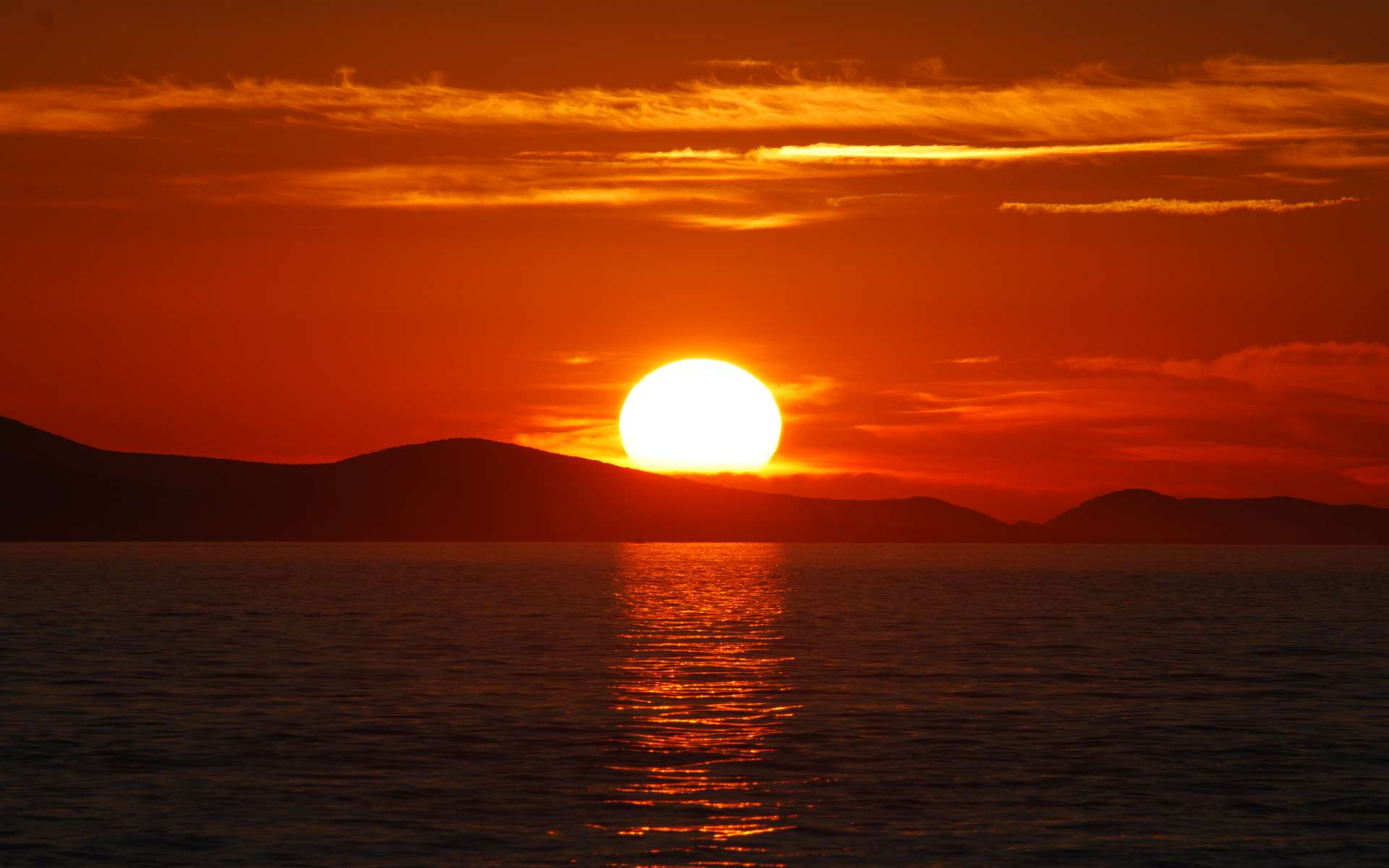 Coucher de Soleil en Croatie. © Wikipédia cc by sa 2.5