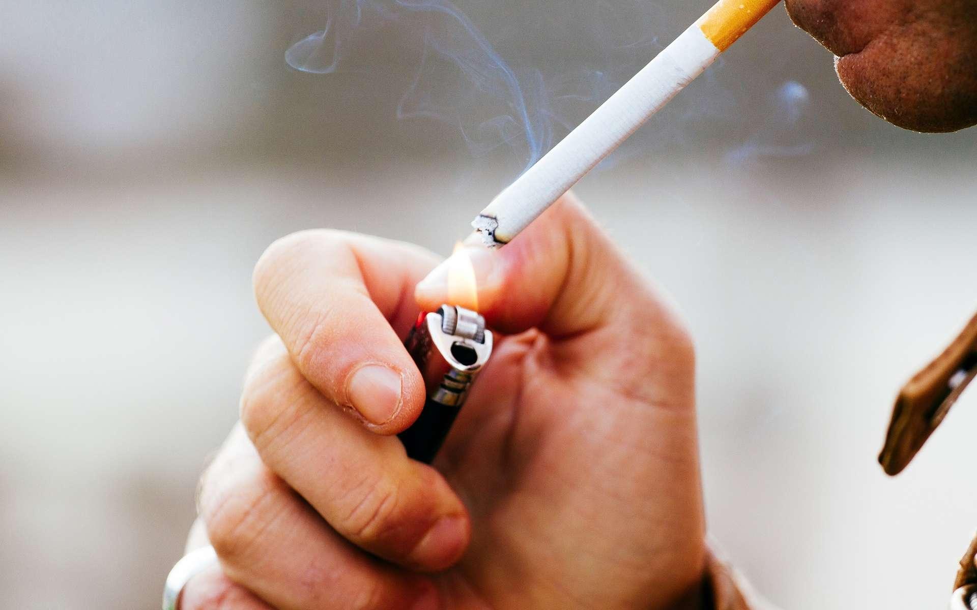 La nicotine représente un danger car elle est responsable de la dépendance à la cigarette. © simone mescolini, Shutterstock