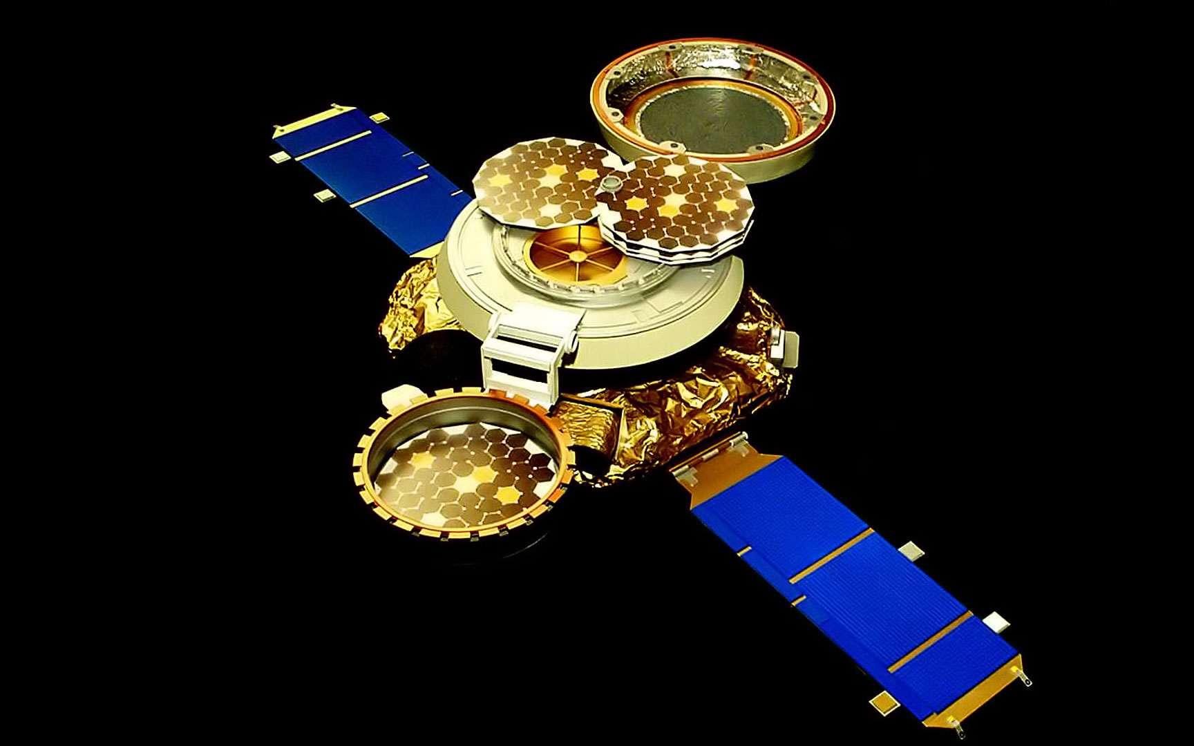 Genesis. Sonde américaine Genesis, chargée de ramener un échantillon de vent solaire. © NASA