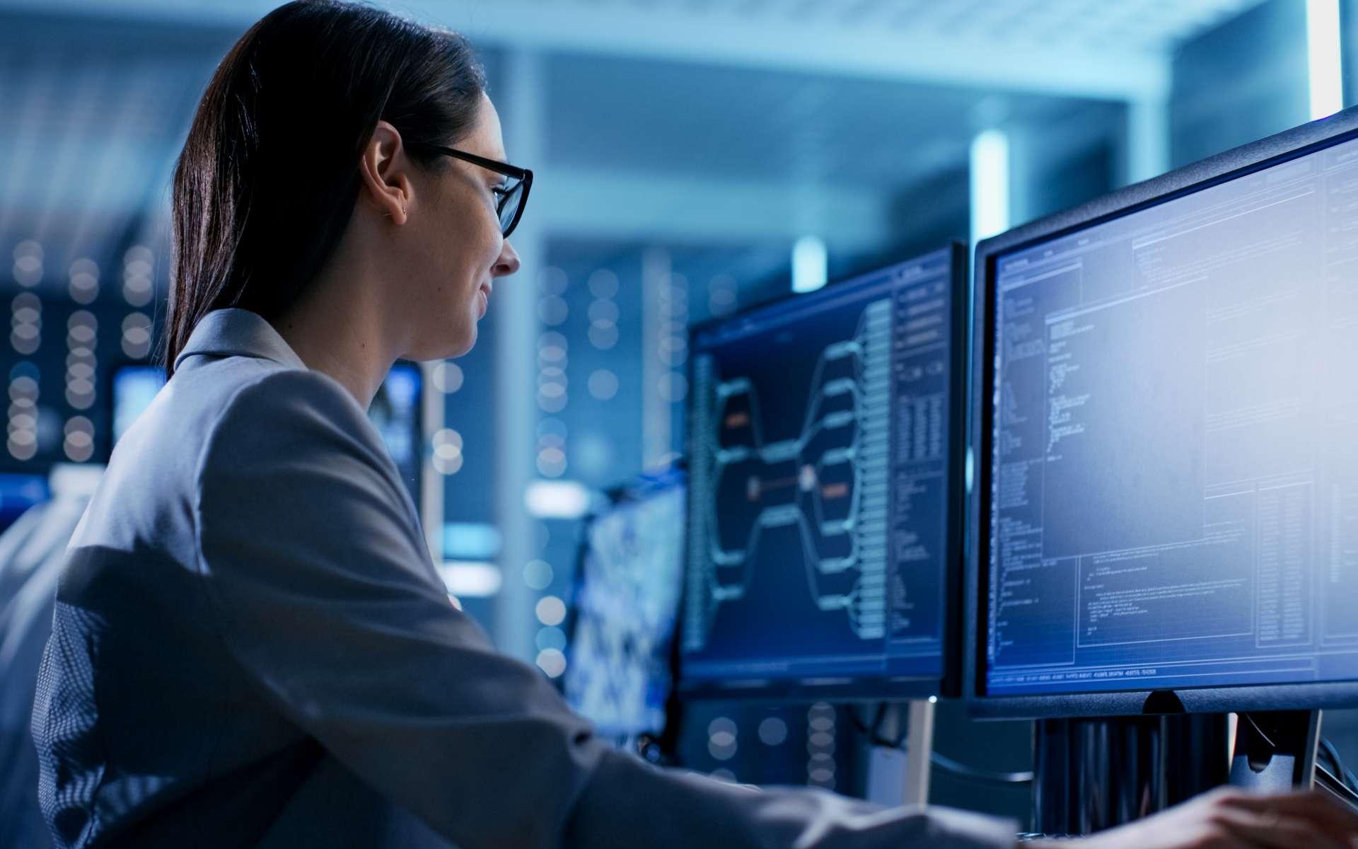 Le consultant informatique doit améliorer les performances du système d'information d'une société. Après analyse de l'existant, il propose la solution la plus adaptée aux besoins de son client. © Gorodenkoff, Adobe Stock.