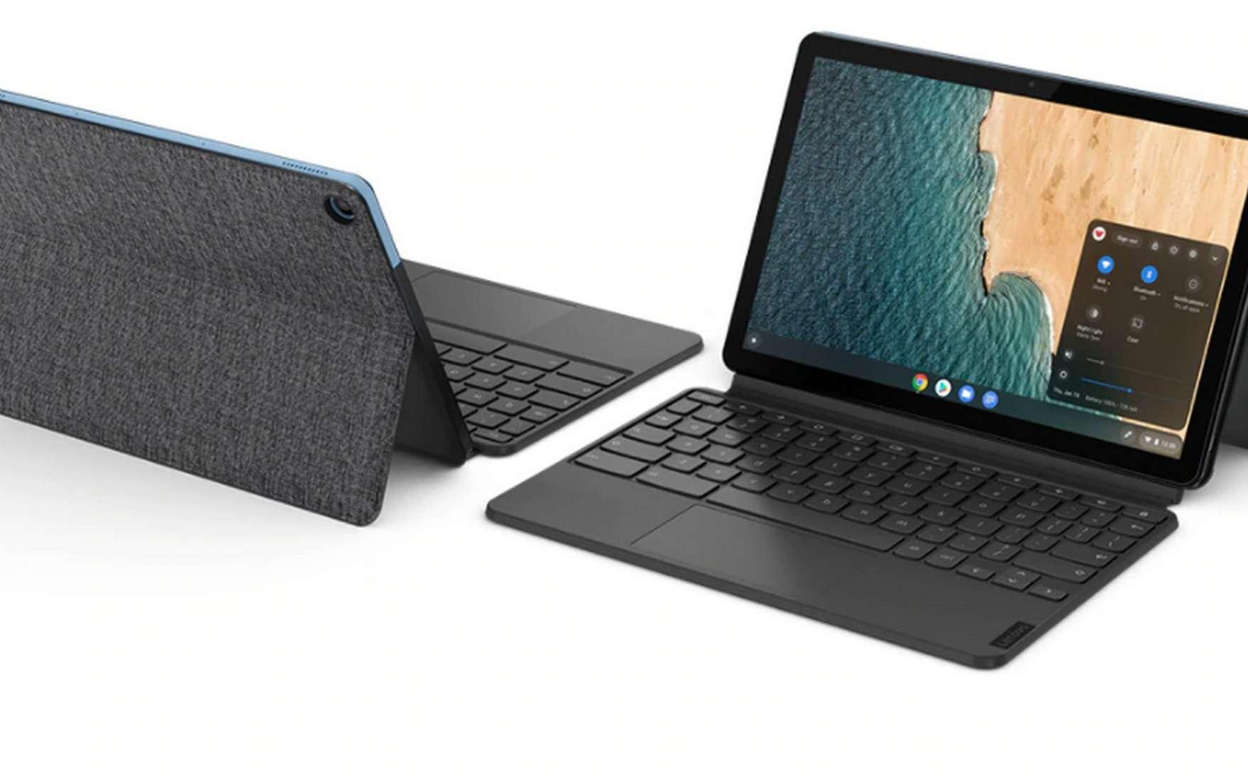 La Lenovo Chromebook IdeaPad Duet nous a agréablement surpris par sa polyvalence. © Lenovo