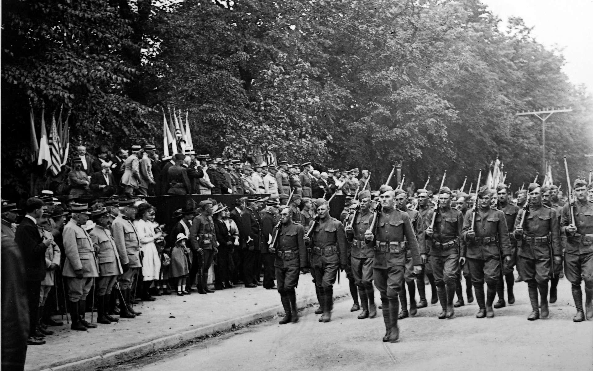 Défilé américain à Chaumont, en Haute-Marne © G. Garitan, Wikimedia Commons, CC by-sa 4.0