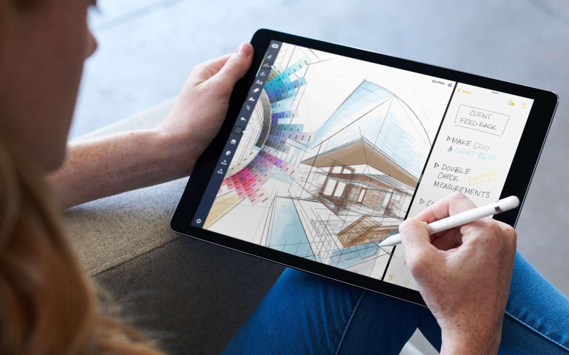 La tablette a su trouver sa place dans l'informatique, sans pour autant rivaliser avec un ordinateur portable. © Apple