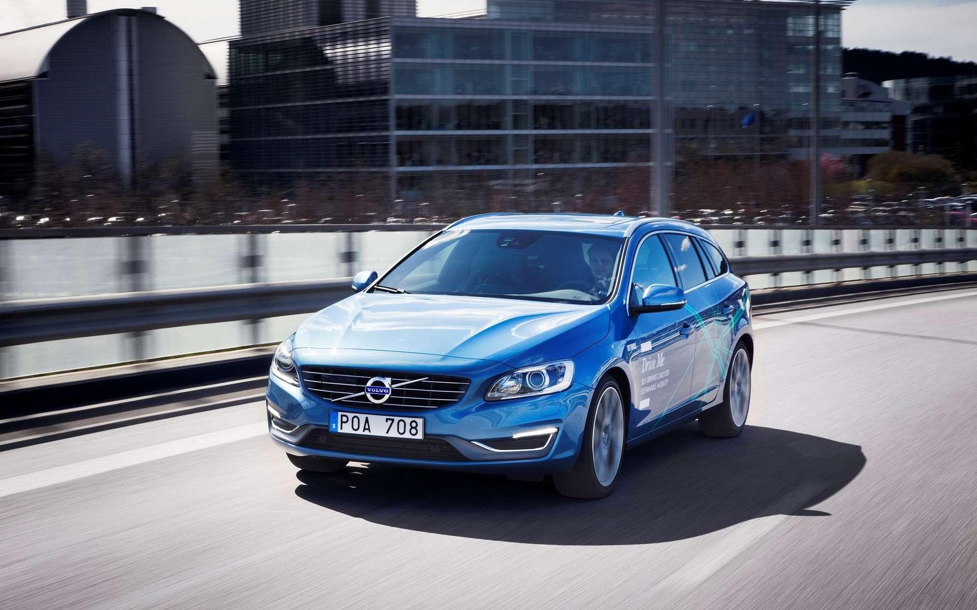 Des voitures Volvo autonomes devraient commencer à rouler en Suède en 2017. © Volvo