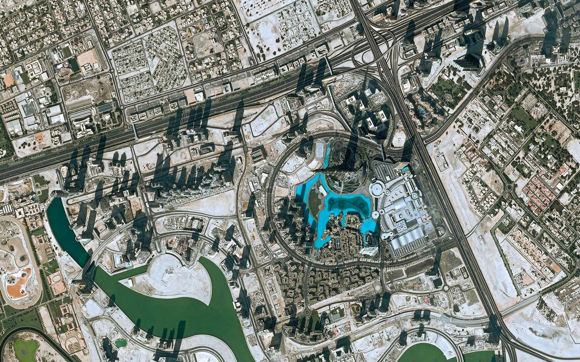 Le quartier du Burj Khalifa à Dubaï photographié par Pléiades. © Airbus Intelligence
